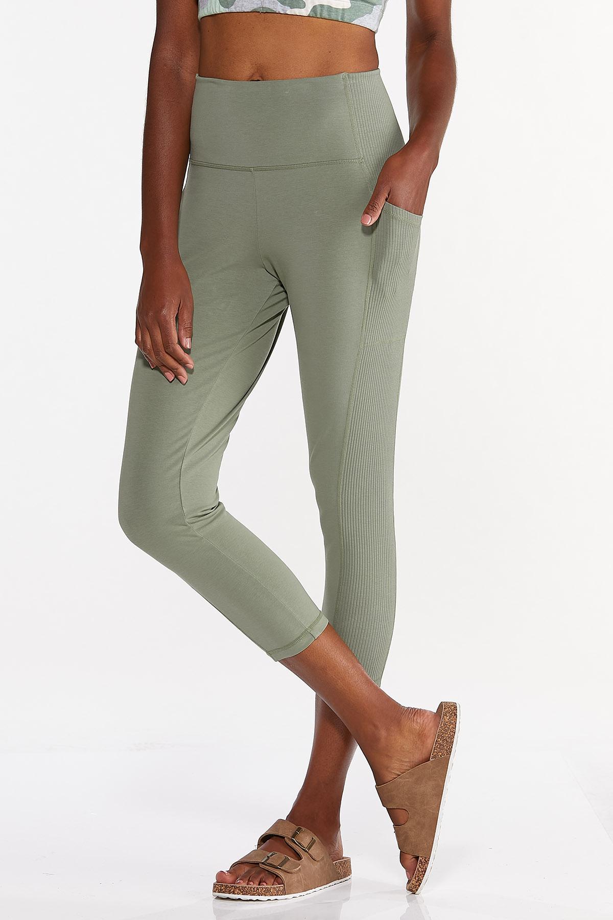 Cropped Side Pocket Leggings (Item #44634075)