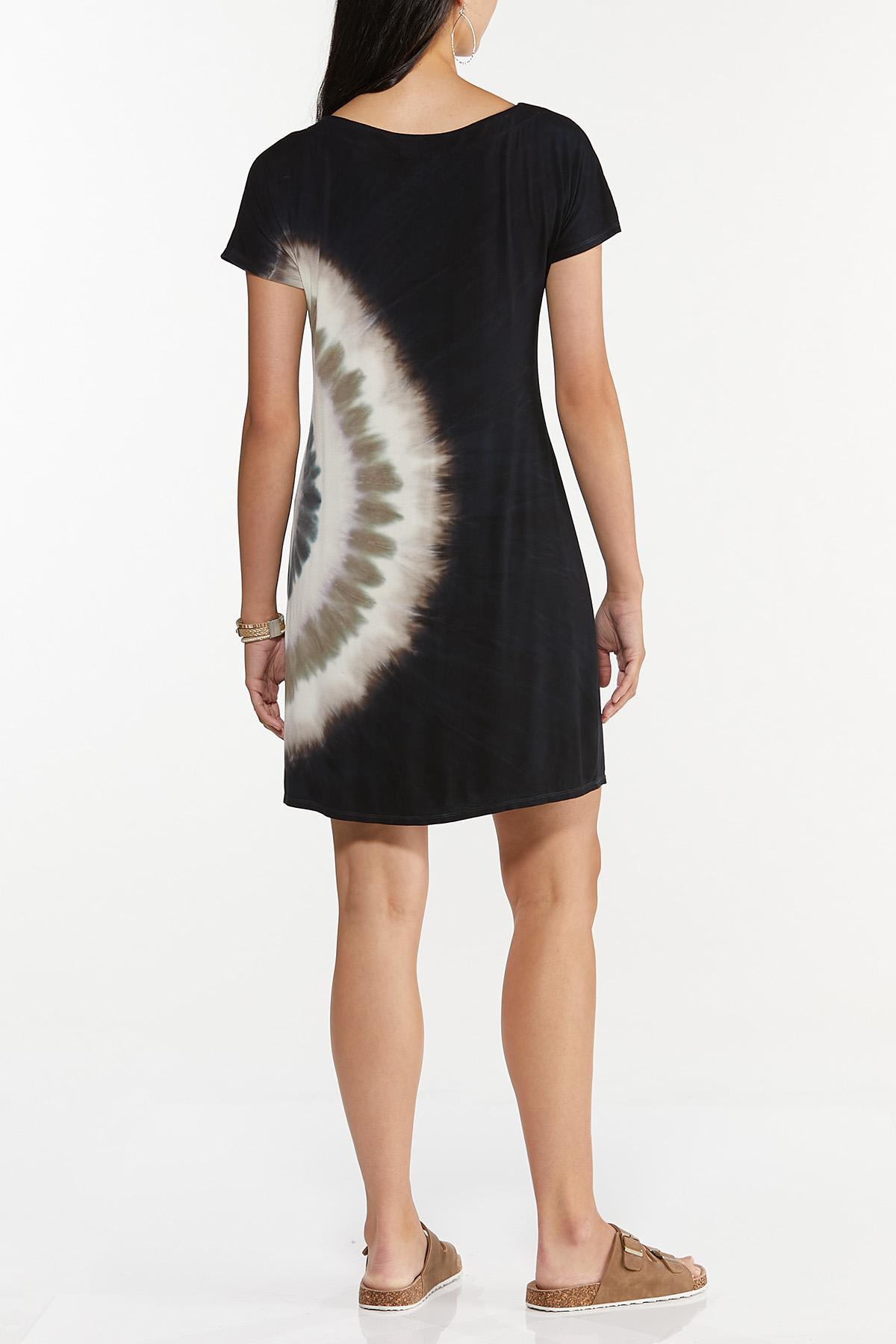 Plus Size Tie Dye Swirl Shirt Dress (Item #44635197)