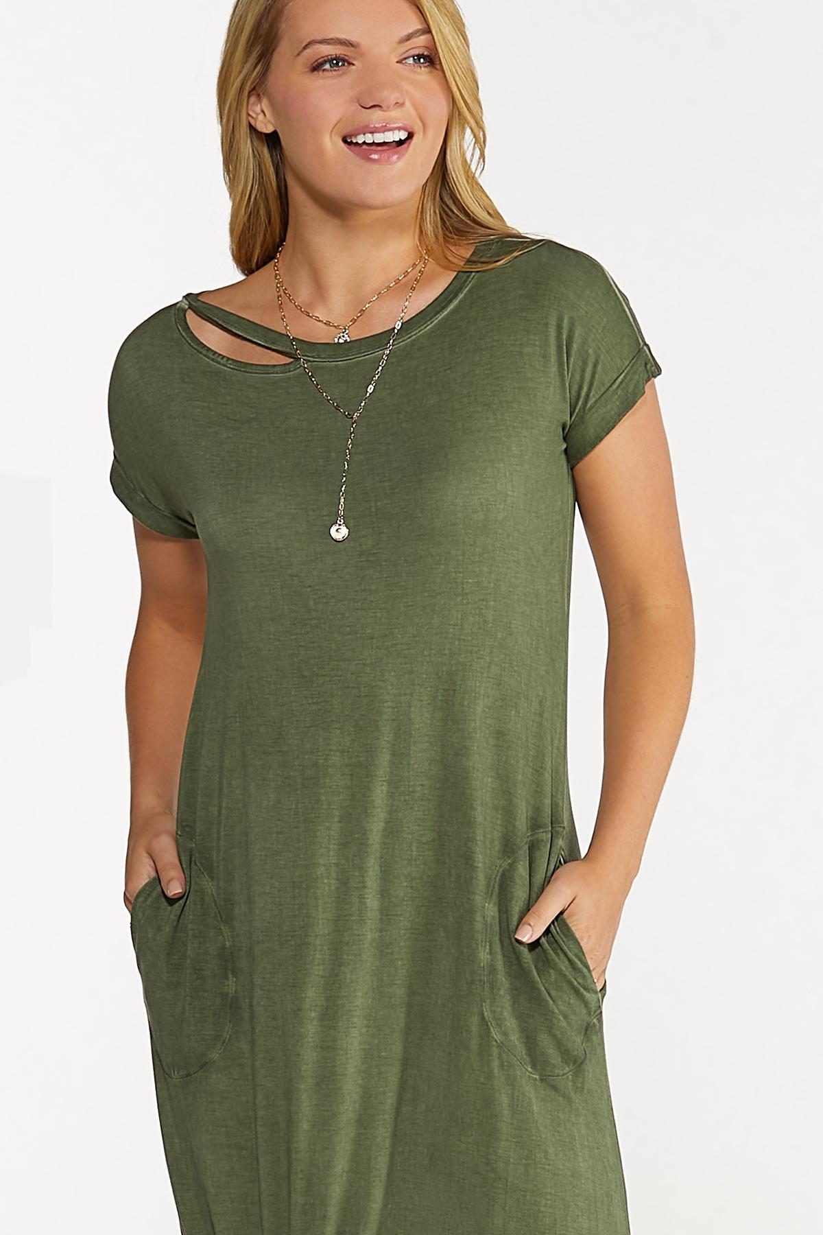 Plus Size Cutout Tee Maxi Dress (Item #44635372)