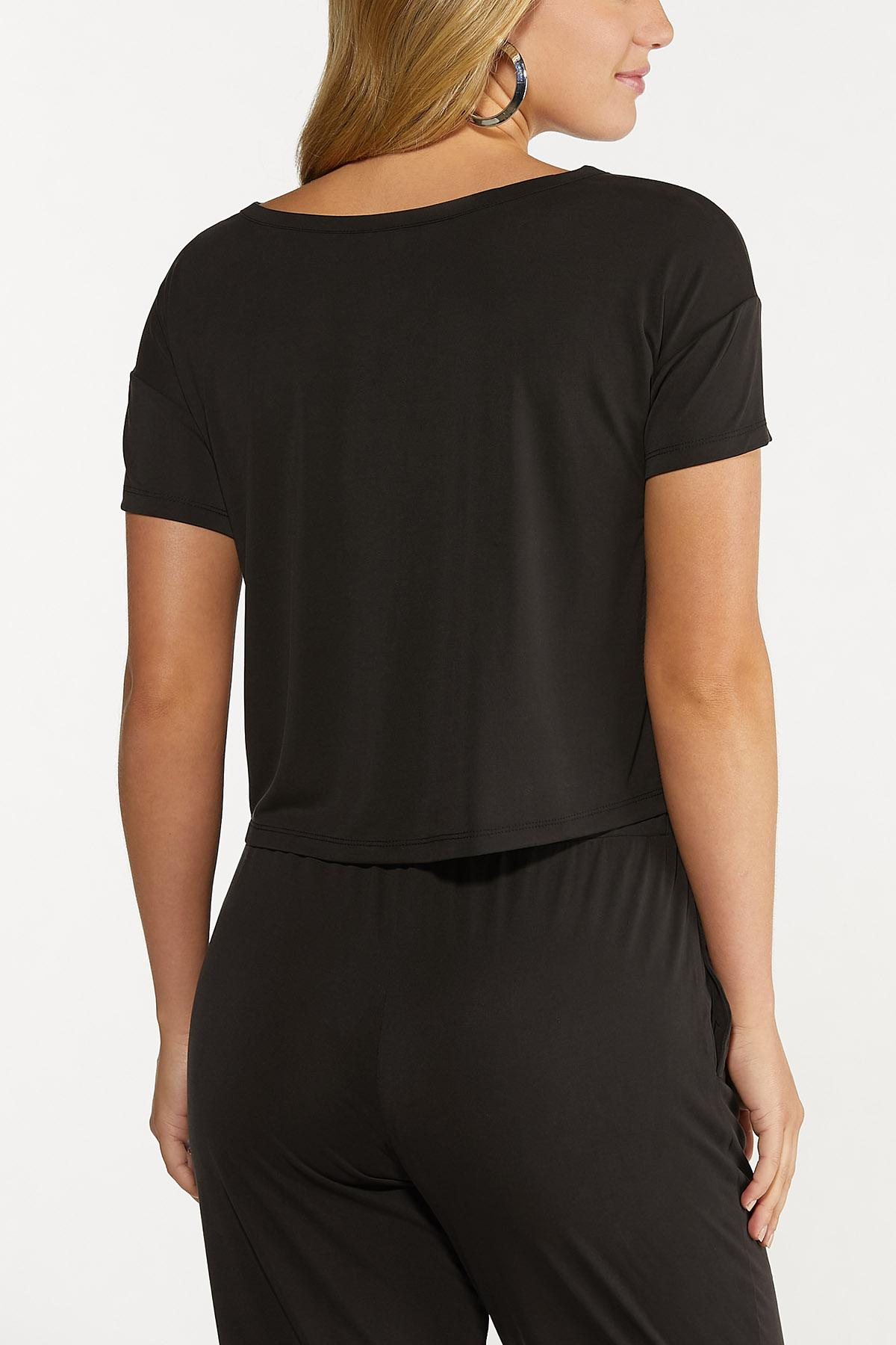 Solid Cutout Tee (Item #44635419)