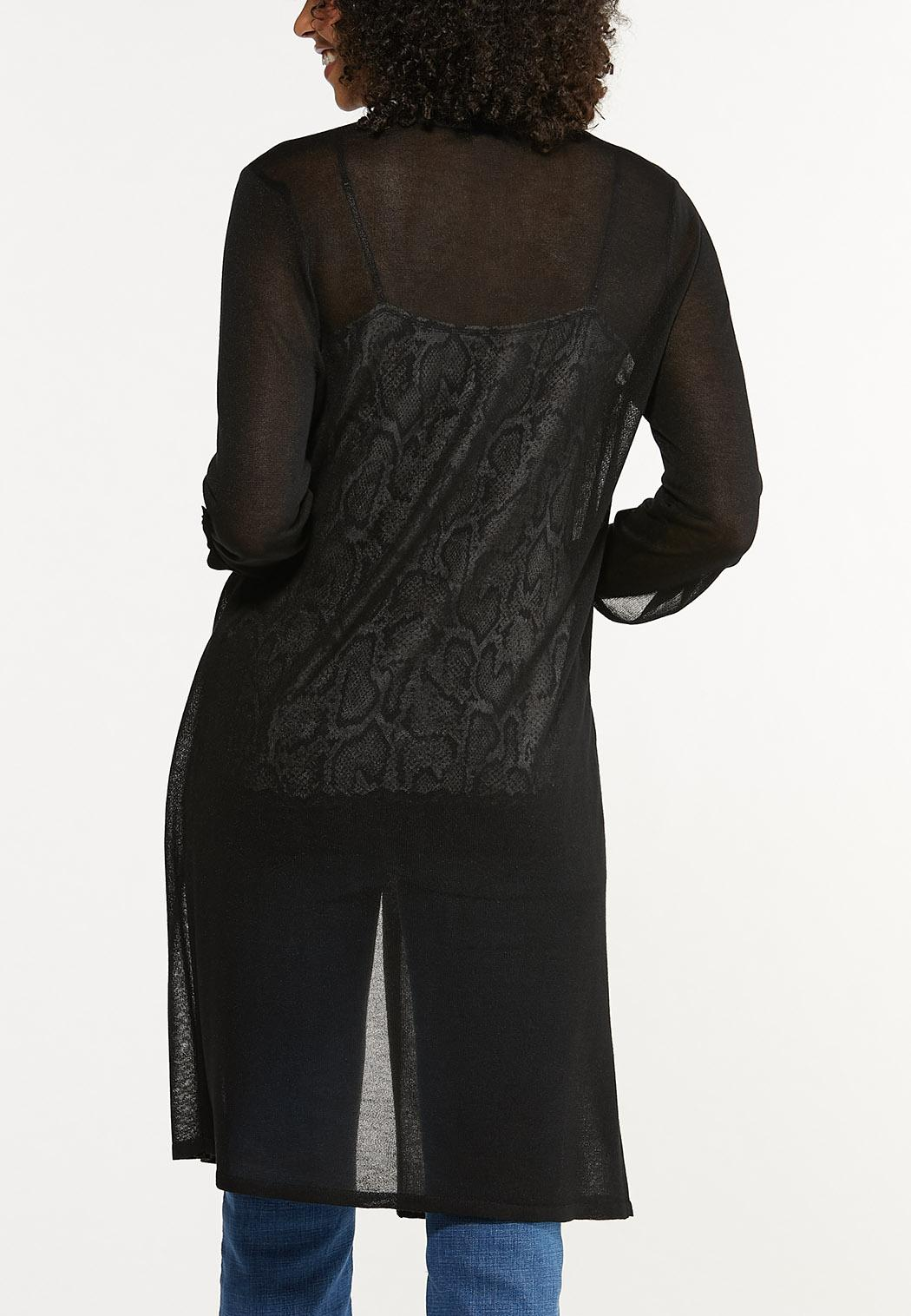 Plus Size Sheer Duster Cardigan (Item #44636421)