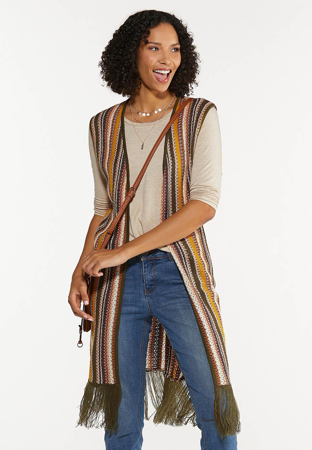 Striped Sweater Vest (Item #44636647)