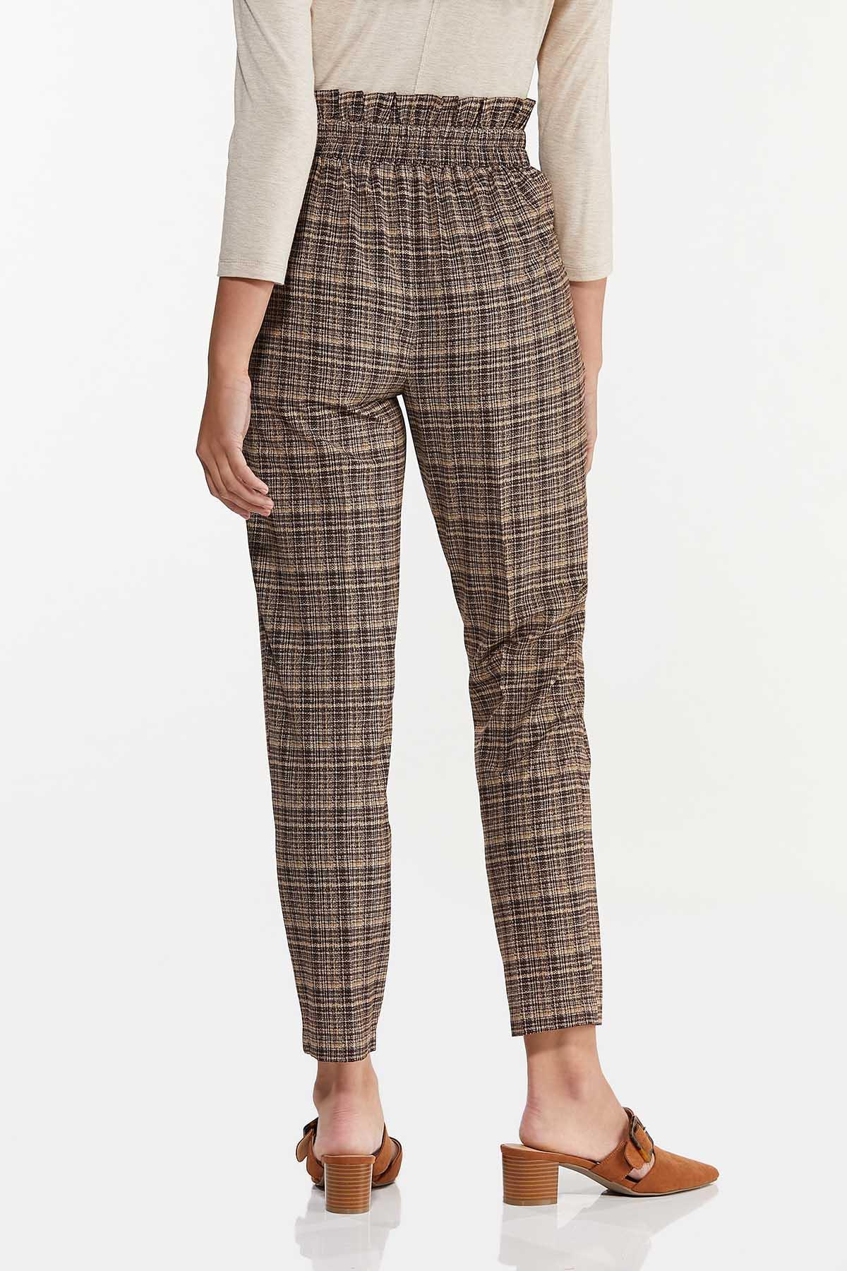 Brown Marled Tie Waist Pants (Item #44637032)