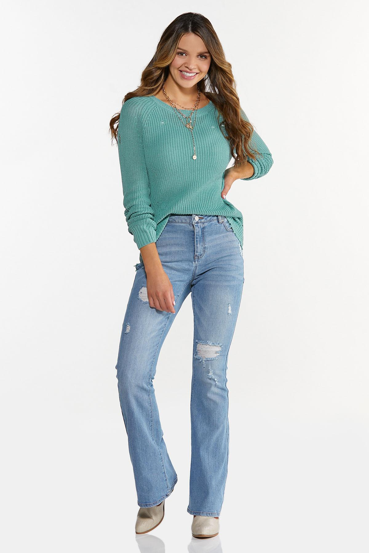 Distressed Pullover Sweater (Item #44637329)