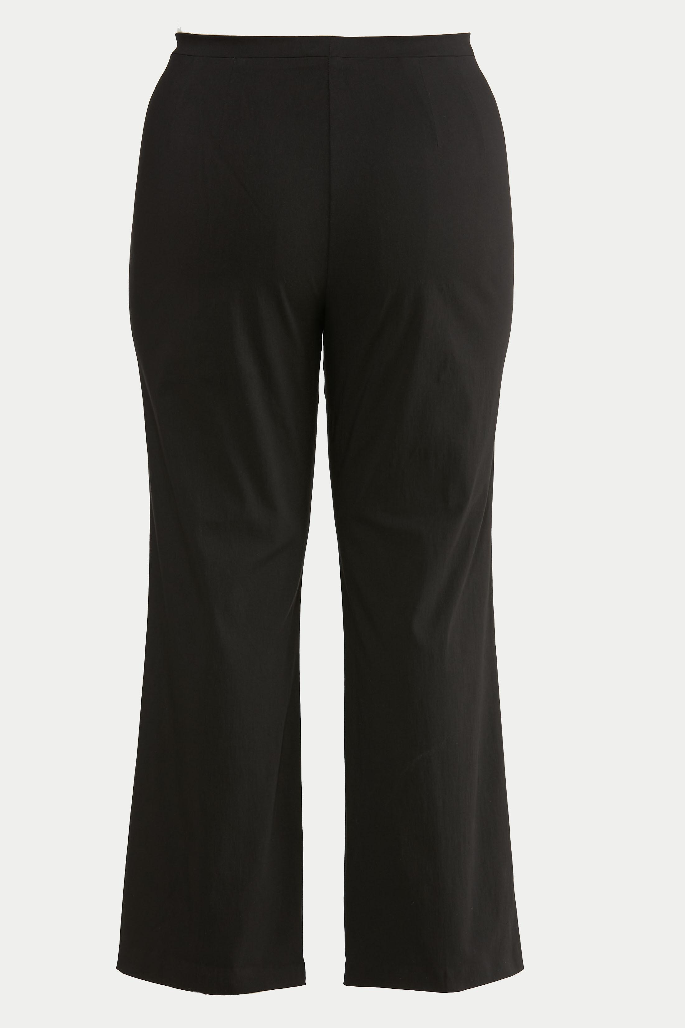 Plus Size Slit Hem Bootcut Pants (Item #44637411)