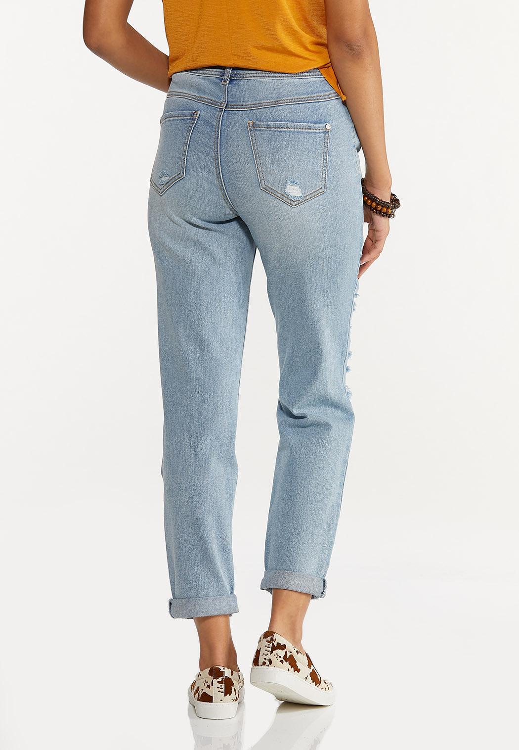 Distressed Boyfriend Jeans (Item #44639730)