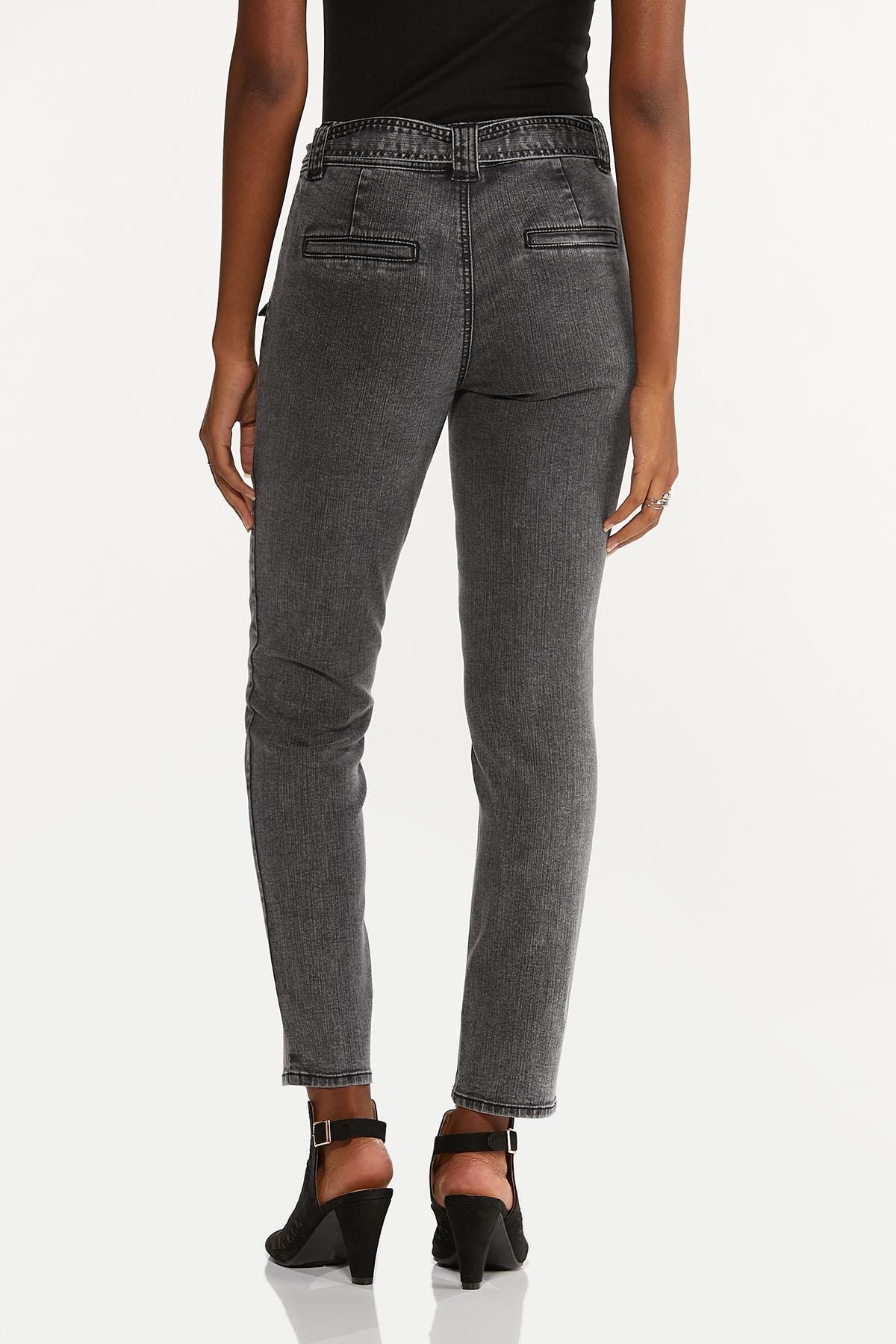 Black Tie Waist Jeans (Item #44639780)