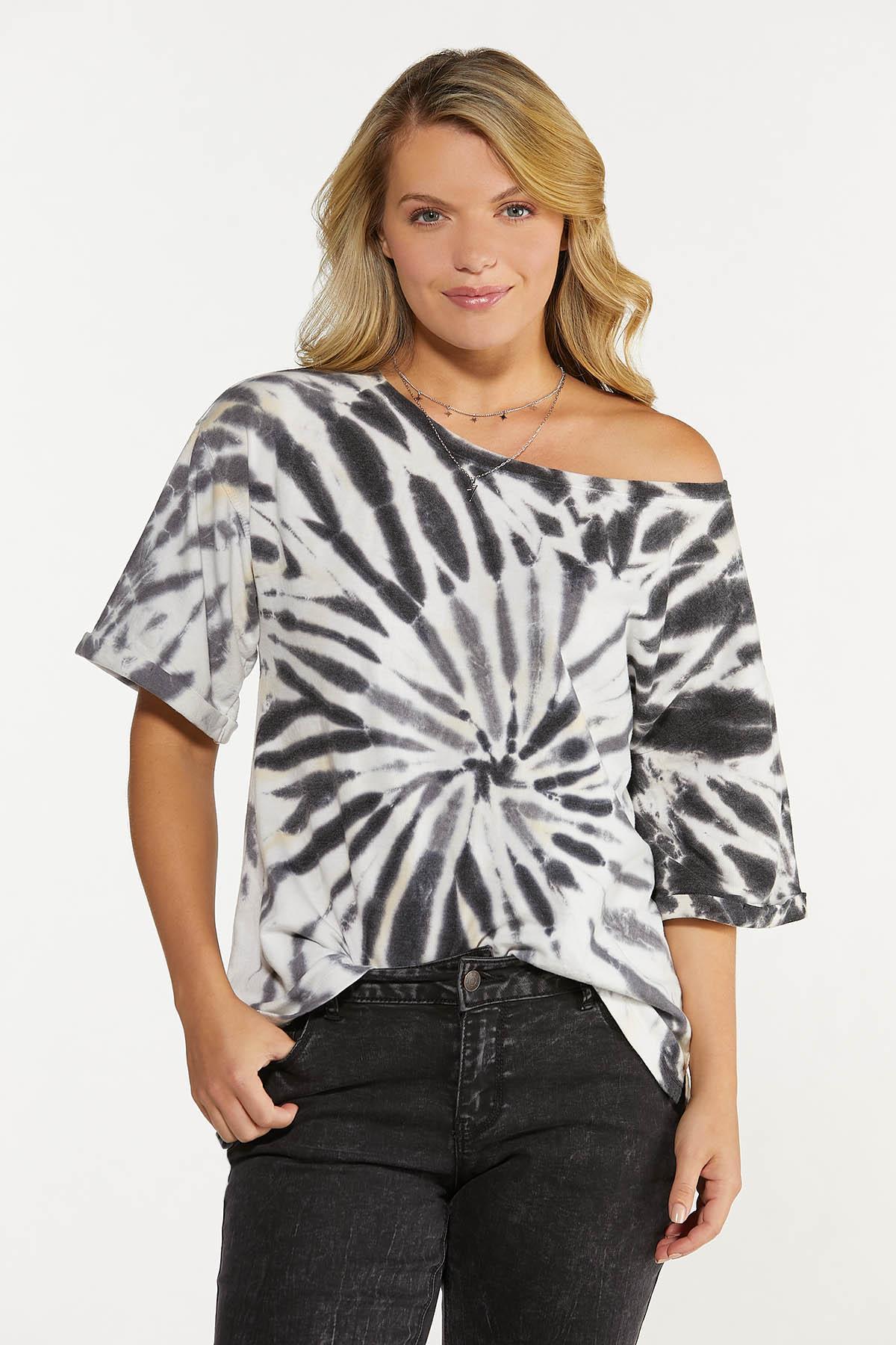 Plus Size Slouched Tie Dye Sweatshirt (Item #44640040)