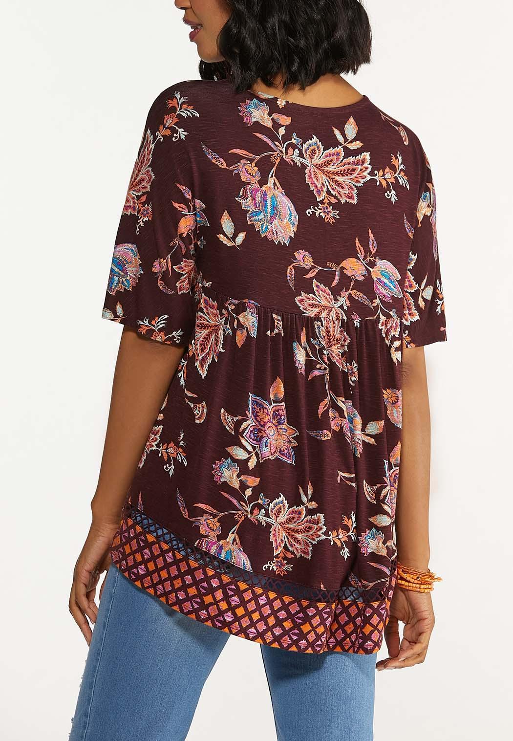 Floral Crochet Trim Top (Item #44640140)