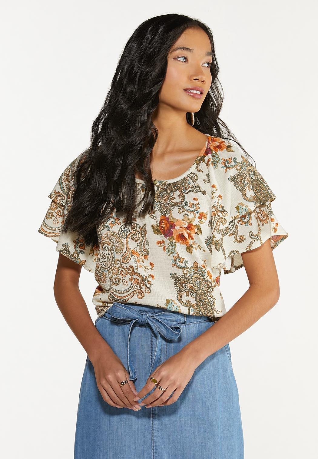 Floral Paisley Gauze Top (Item #44640150)