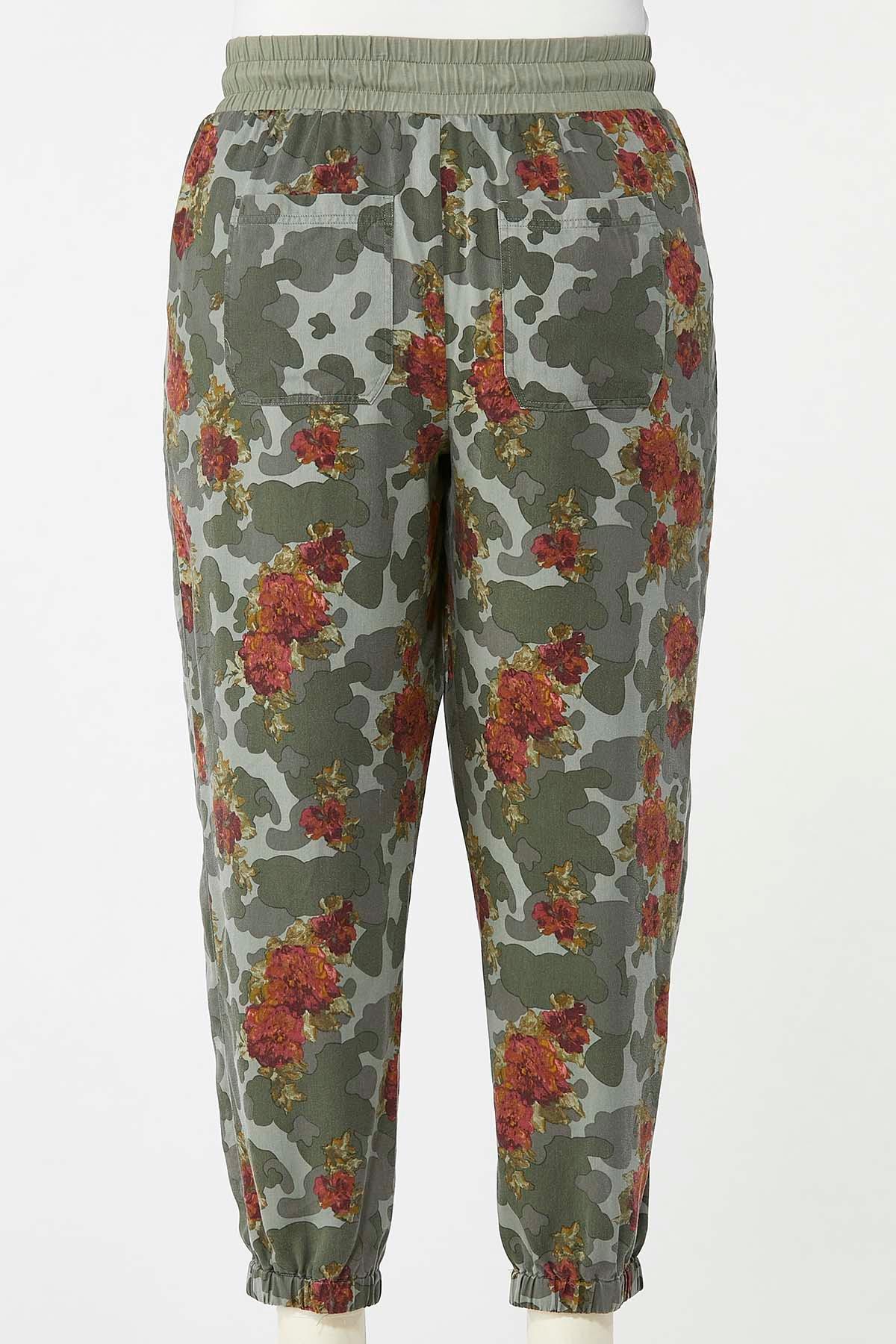 Plus Size Camo Floral Joggers (Item #44640342)