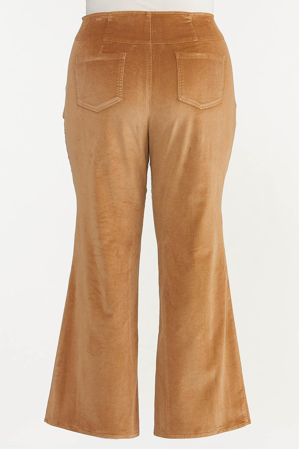 Plus Size Corduroy Flare Pants (Item #44640402)