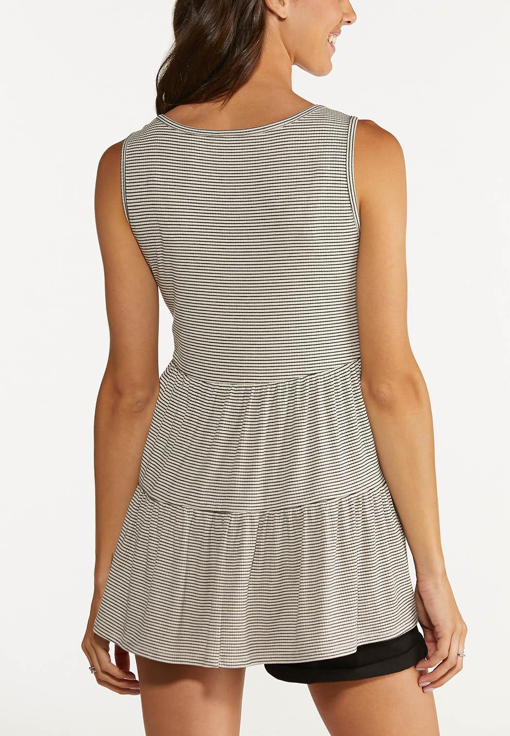 Plus Size Tiered Stripe Top (Item #44640492)