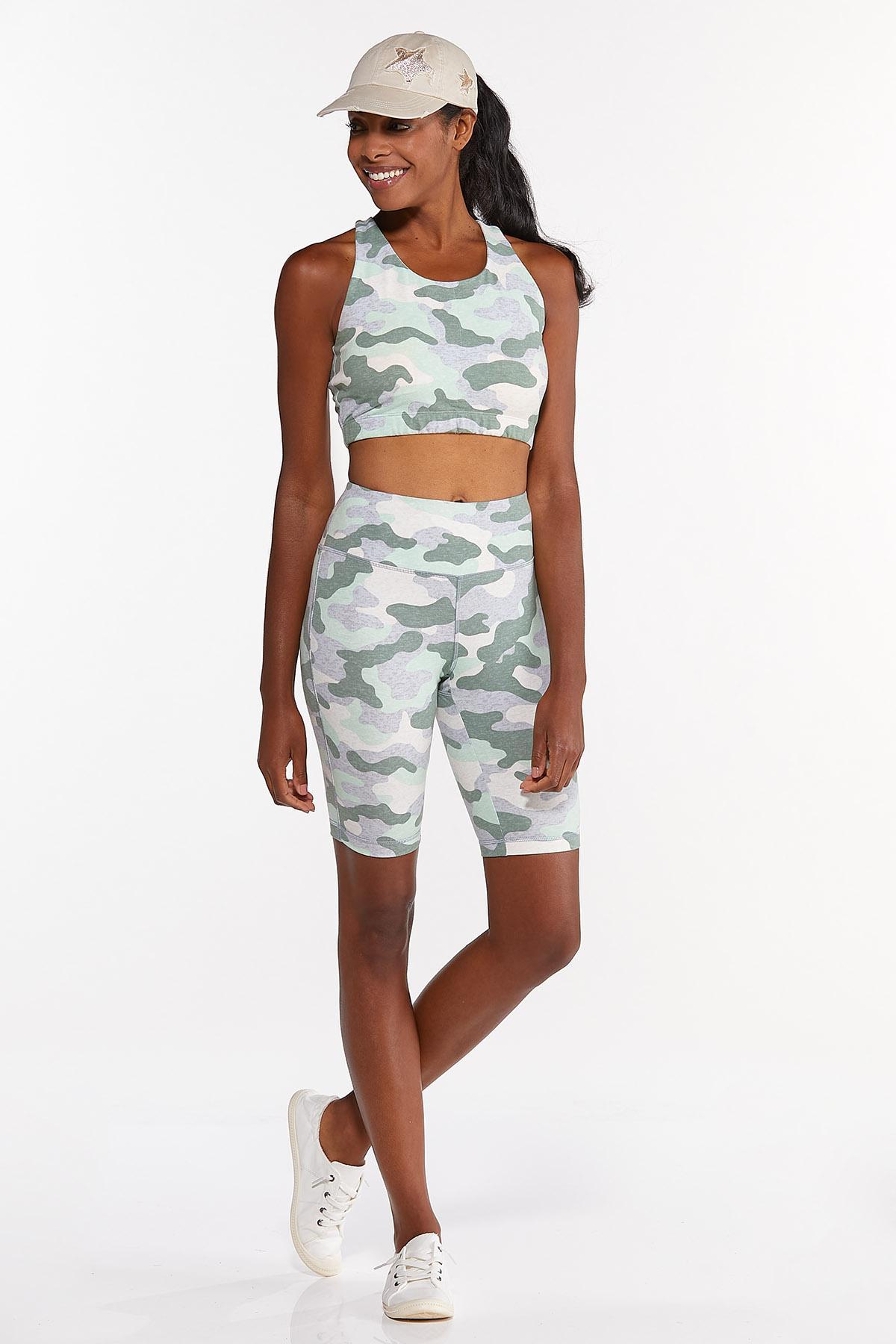 Plus Size Camo Sports Bra (Item #44640570)