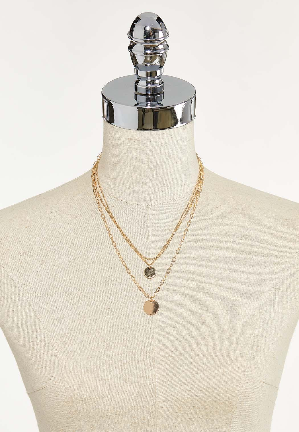 Delicate Layered Mixed Chain Necklace (Item #44640648)
