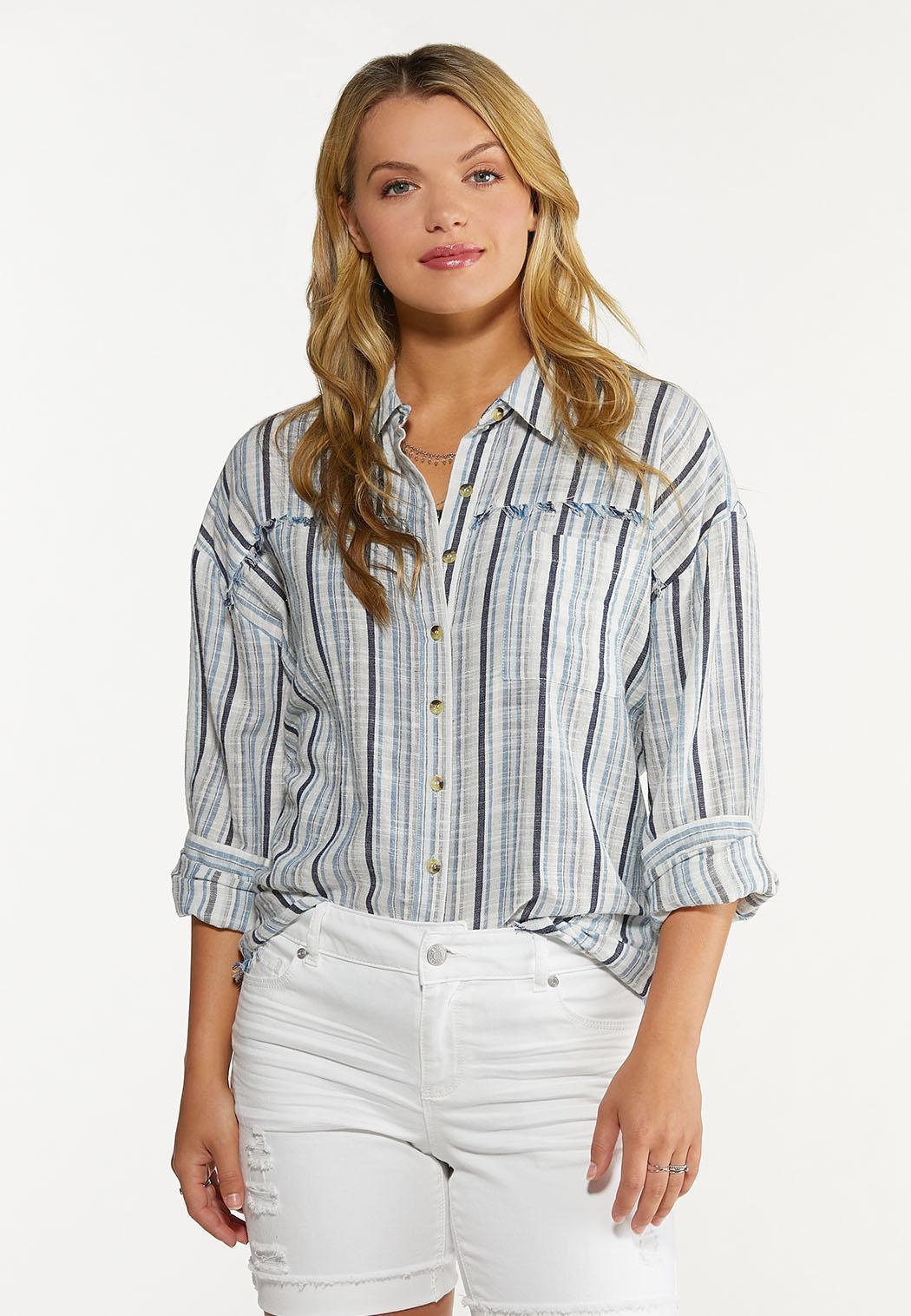 Frayed Stripe Shirt (Item #44640820)