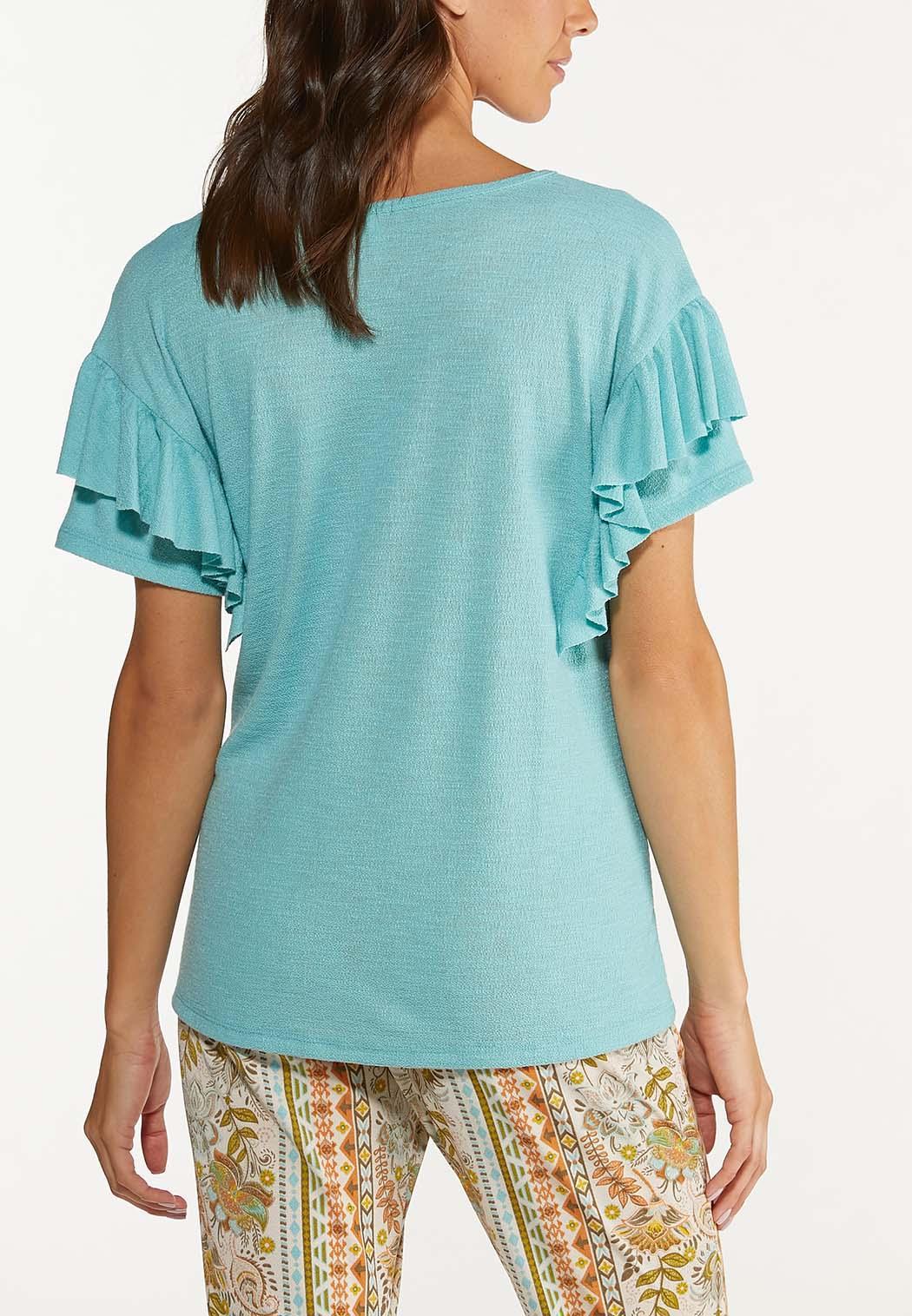 Ruffled Stud Embellished Top (Item #44640878)