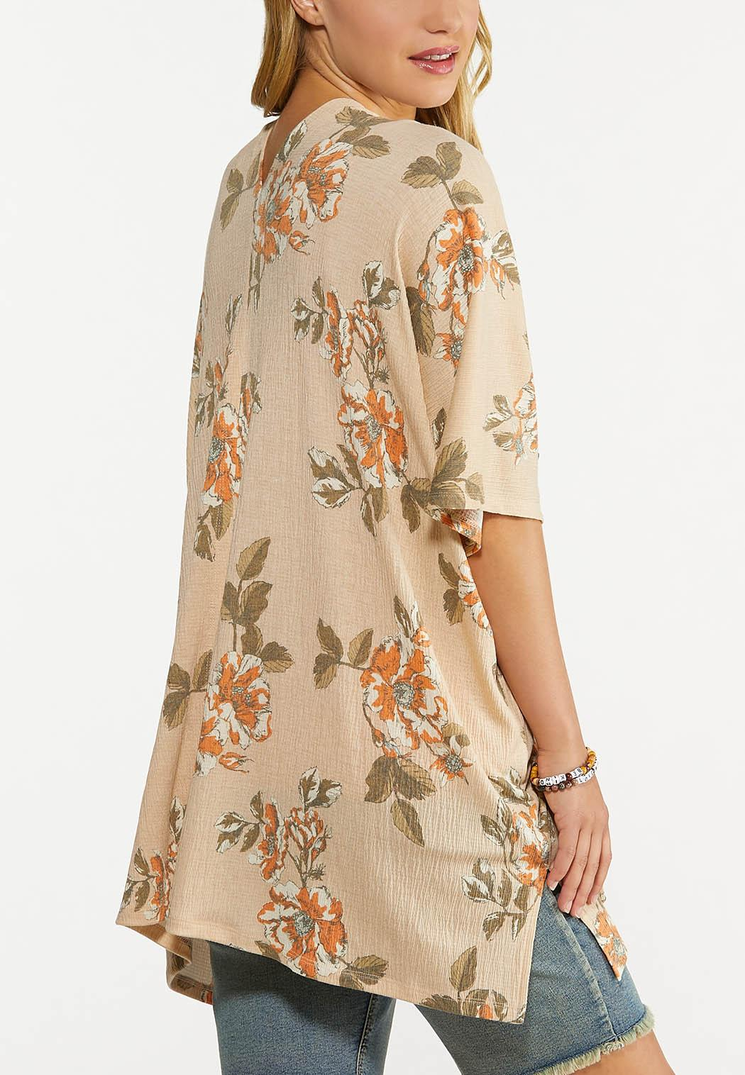 Gauzy Floral Cardigan (Item #44641159)