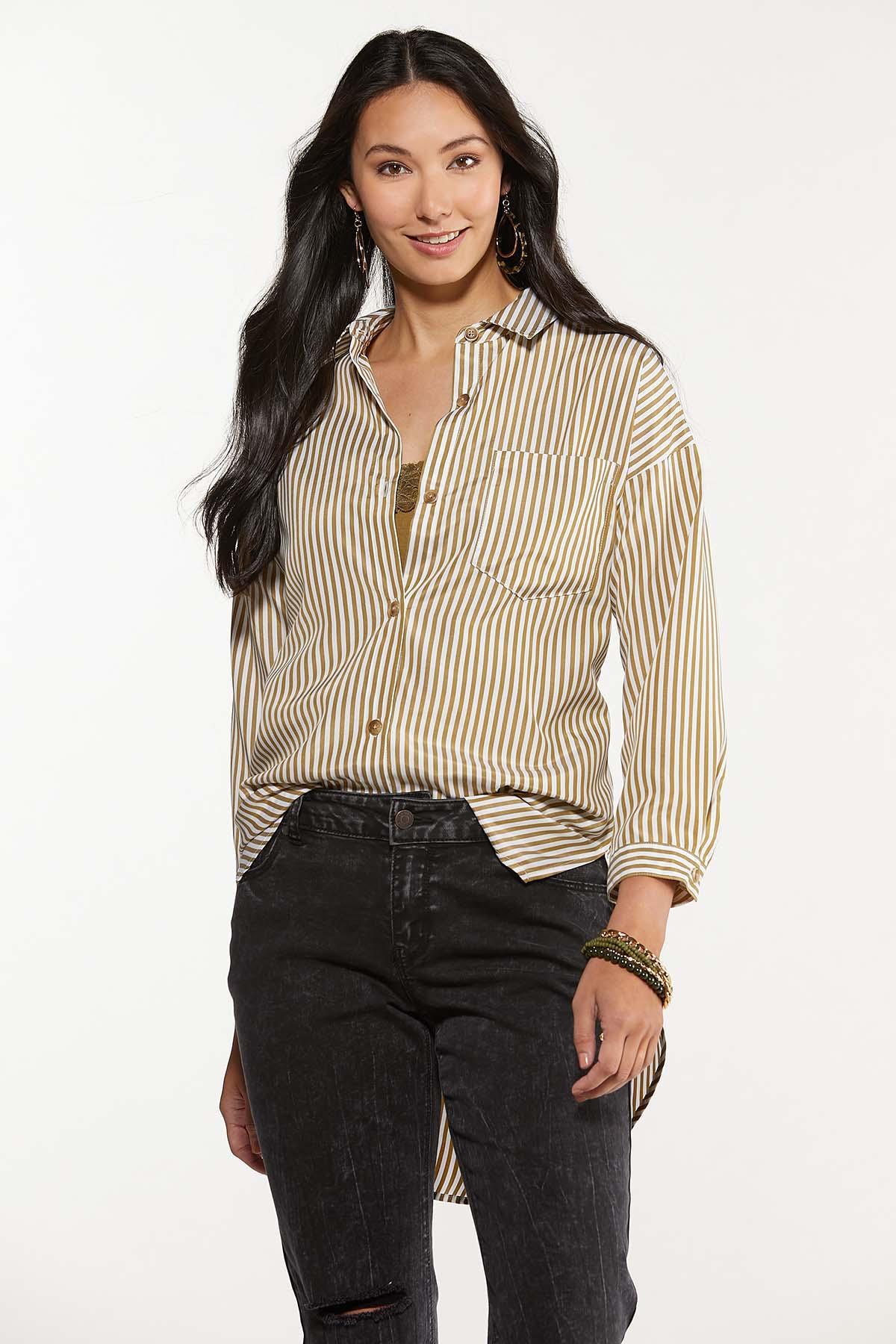 Plus Size Oversized Stripe Tunic (Item #44641244)