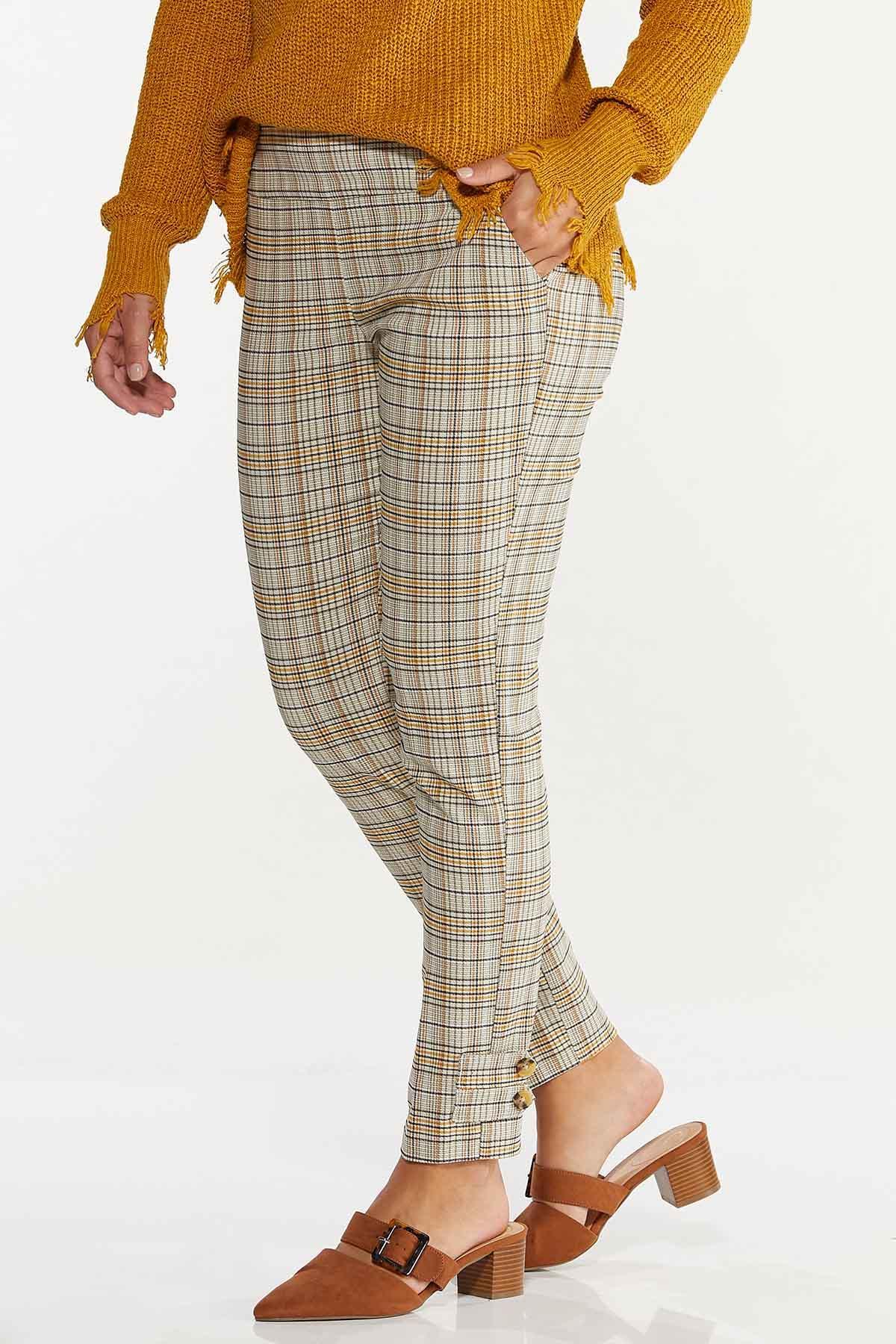 Gold Plaid Bengaline Pants (Item #44641548)