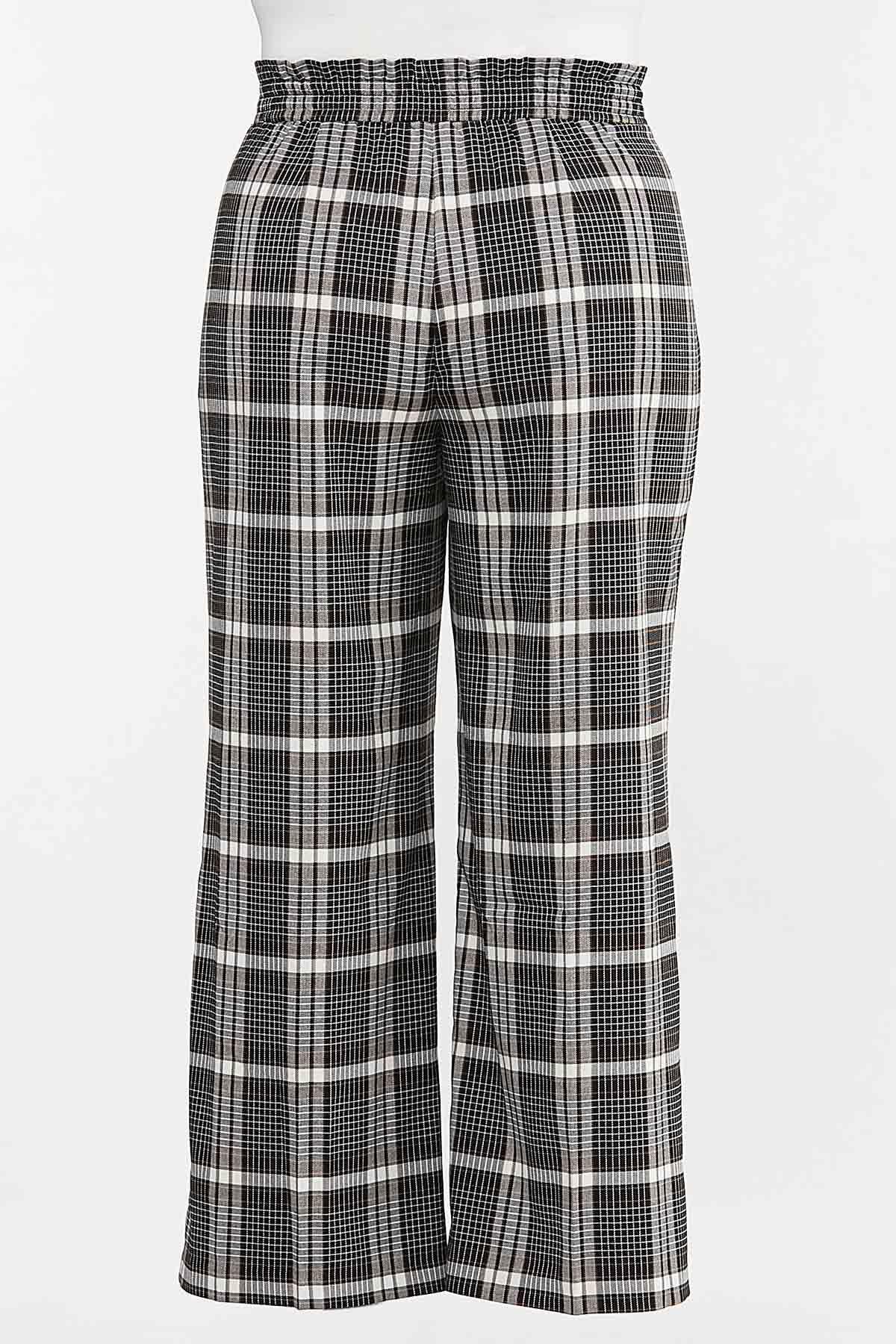 Plus Size Plaid Trouser Pants (Item #44641873)