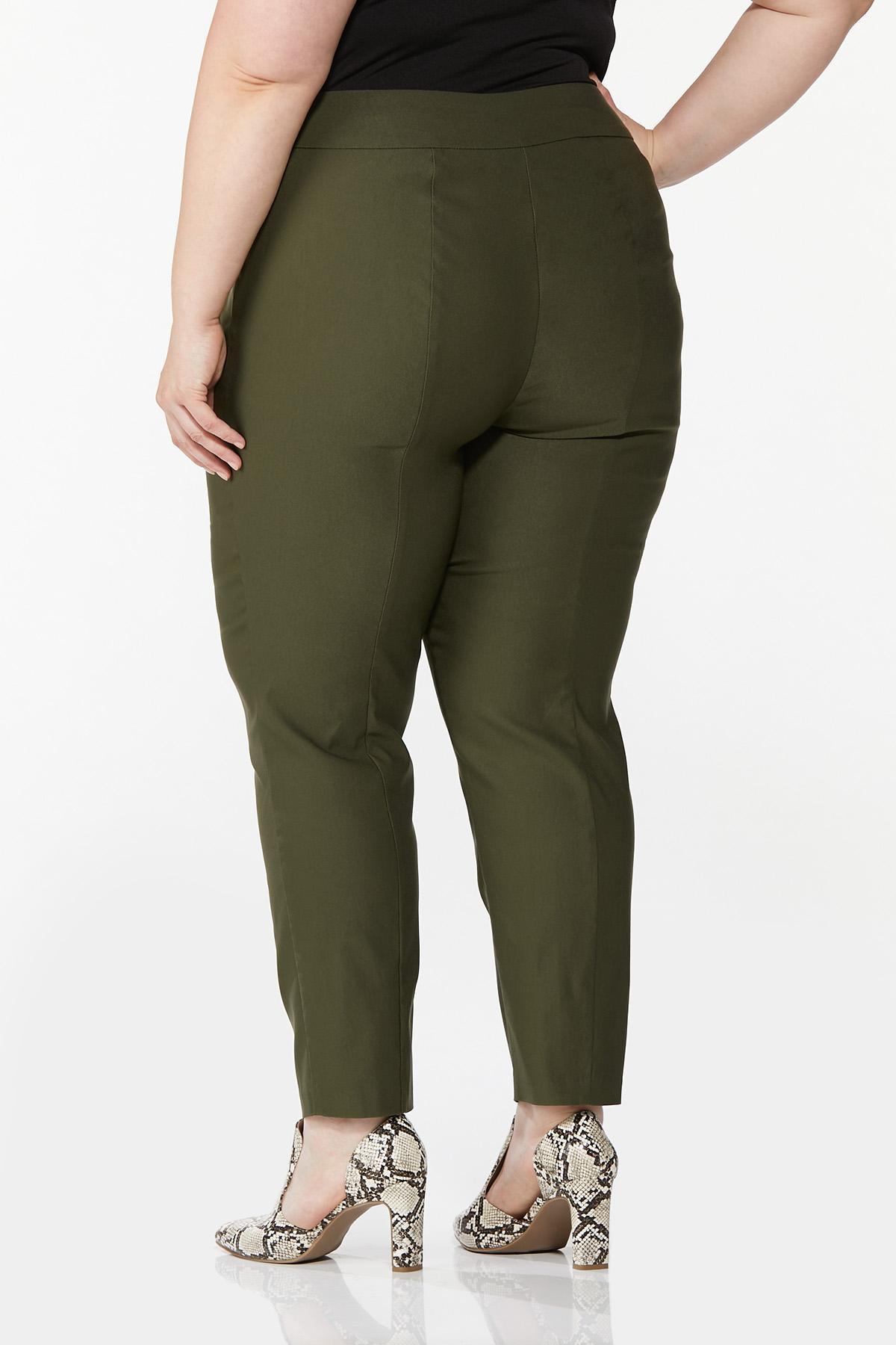 Plus Size Slim Bengaline Pants (Item #44641924)