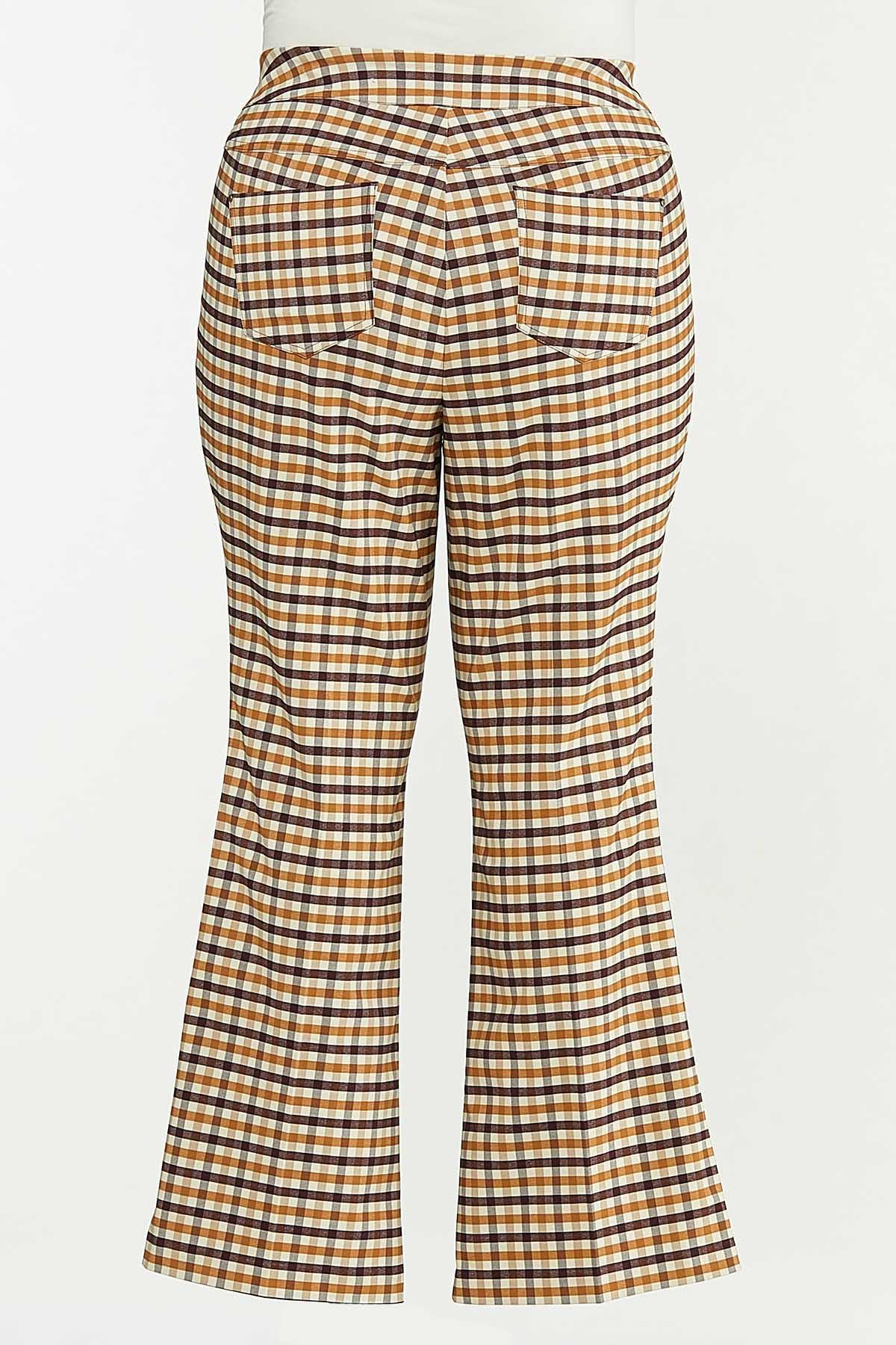Plus Size Plaid Bengaline Pants (Item #44641991)
