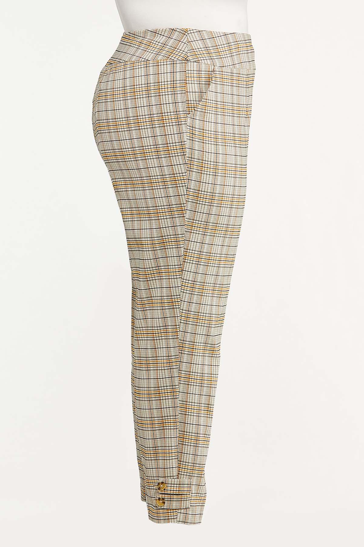 Plus Size Gold Bengaline Pants (Item #44642018)