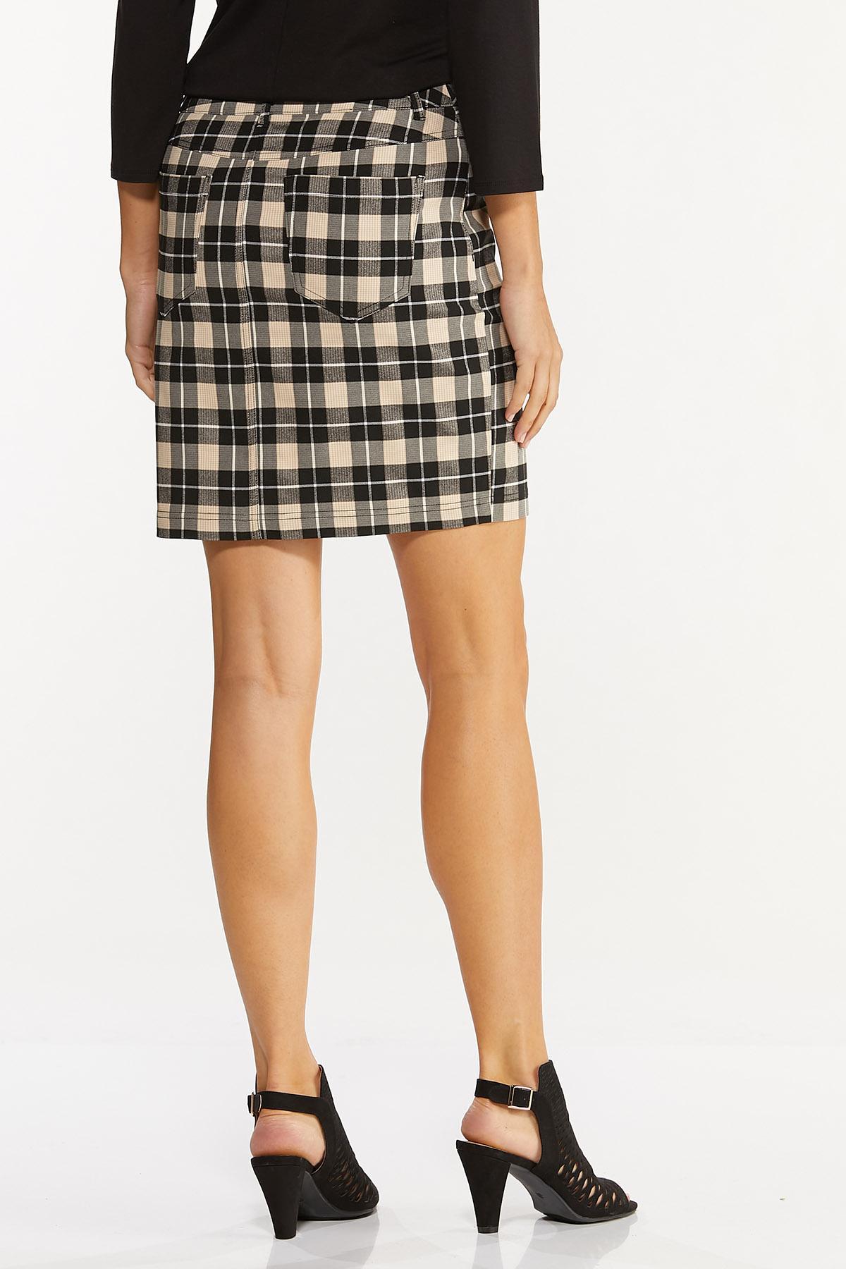 Neutral Plaid Mini Skirt (Item #44642133)