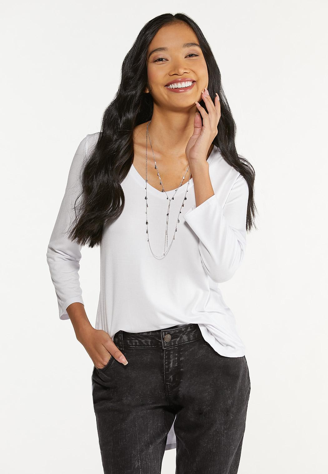 Plus Size Solid Tee Tunic (Item #44642192)