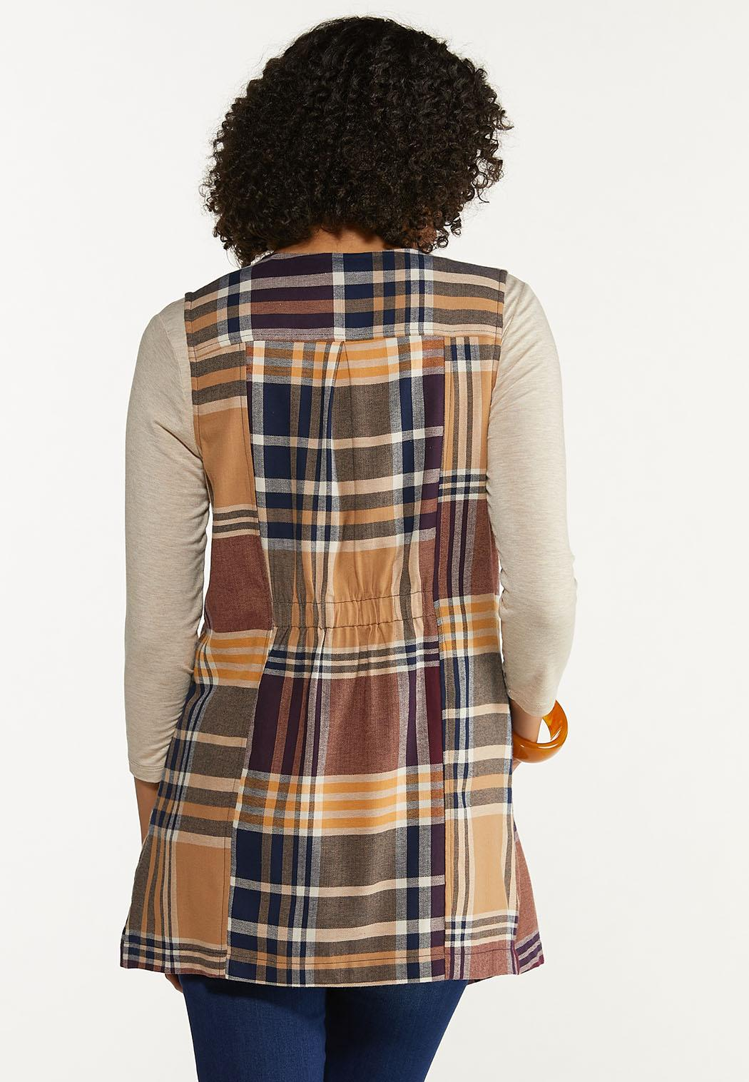 Plaid Draped Vest (Item #44642415)
