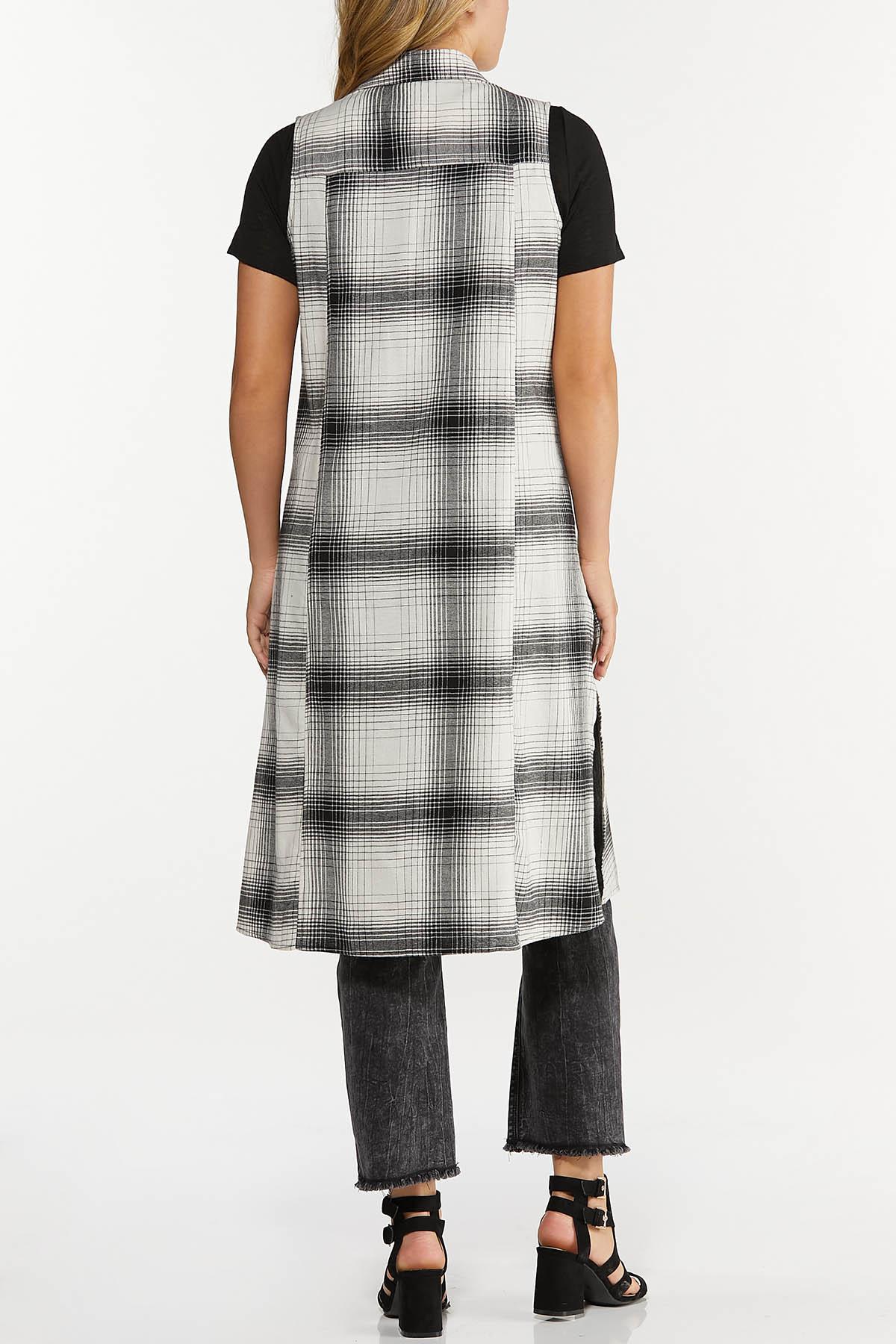 Contrasting Plaid Vest (Item #44642435)