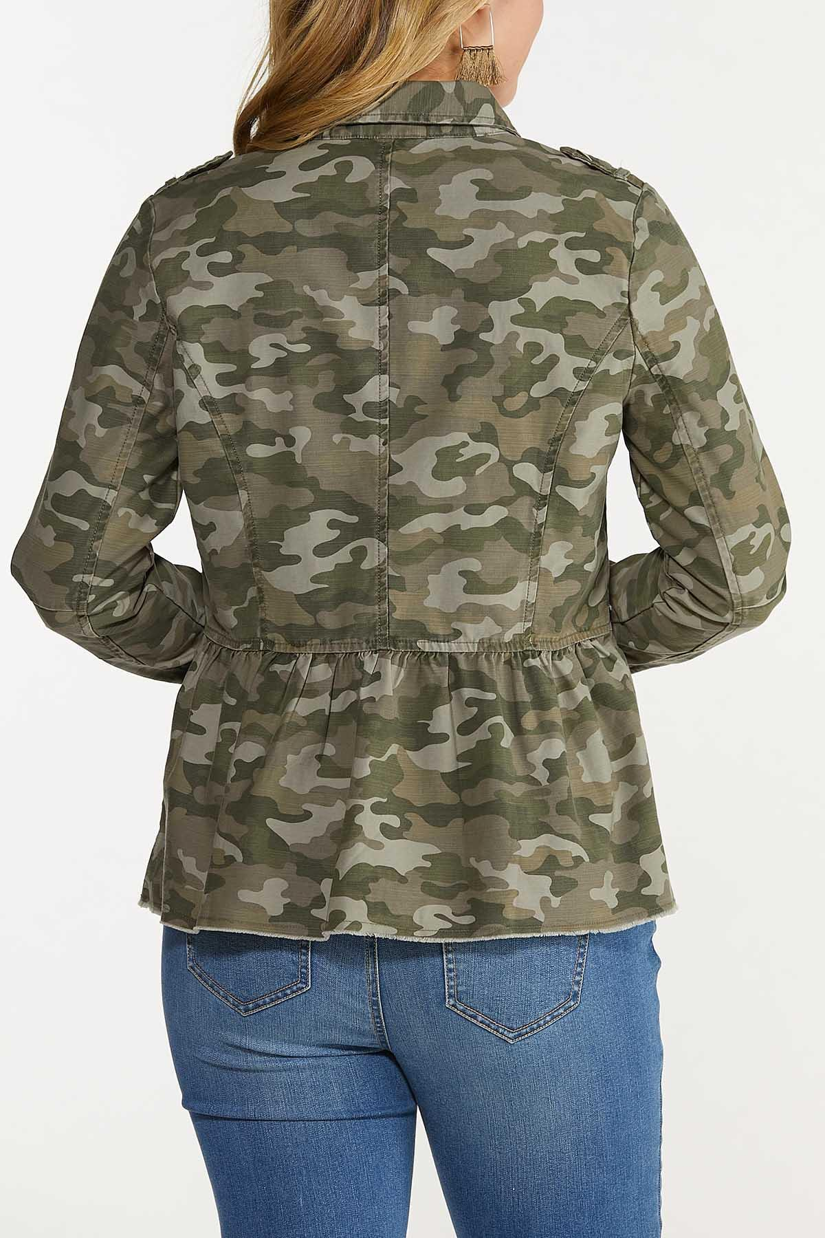 Camo Peplum Jacket (Item #44642729)