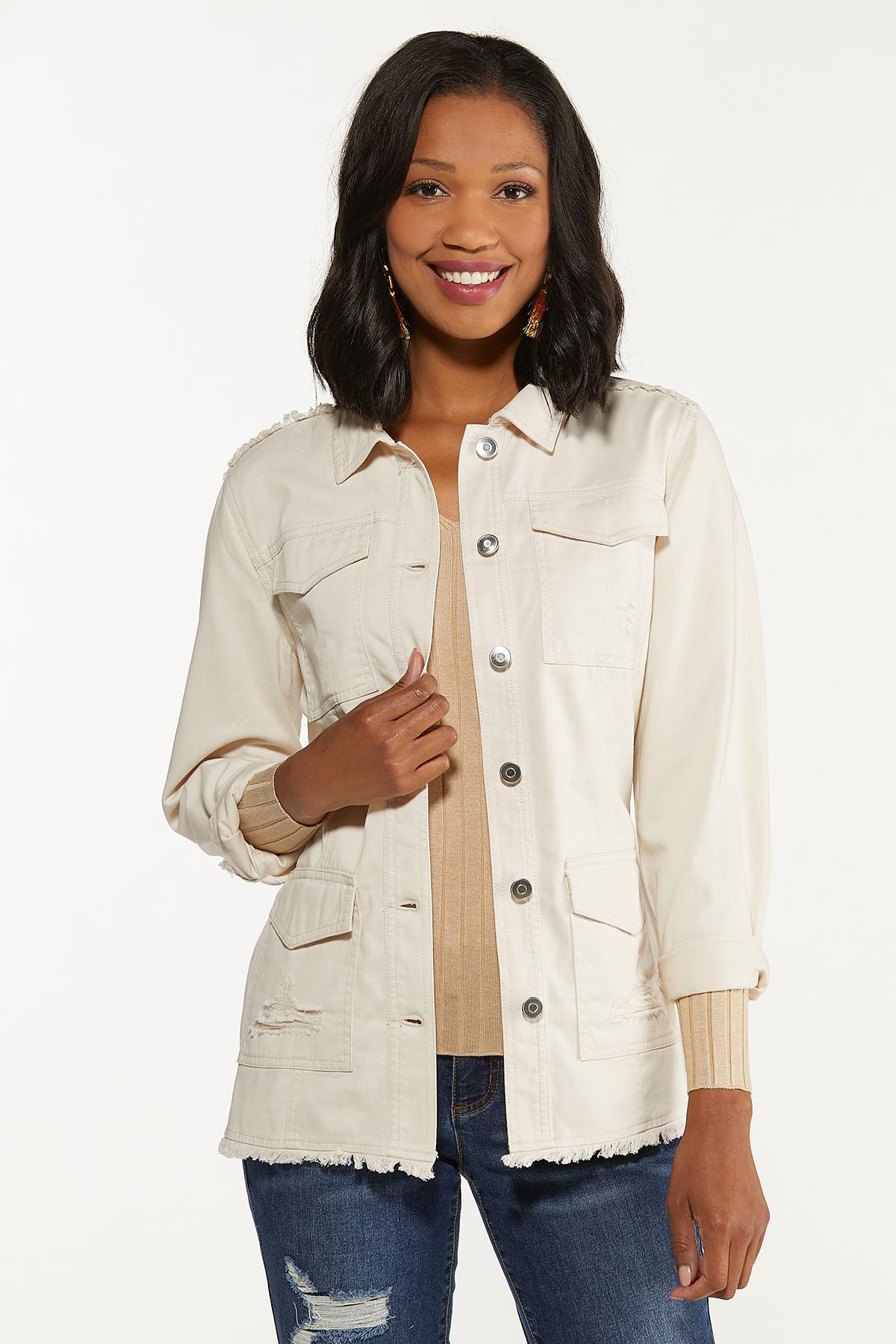 Distressed Belted Jacket (Item #44642759)