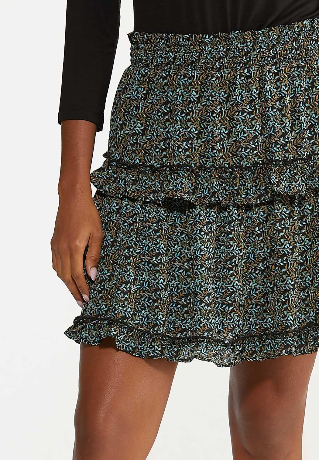 Tiered Ruffled Mini Skirt (Item #44643134)