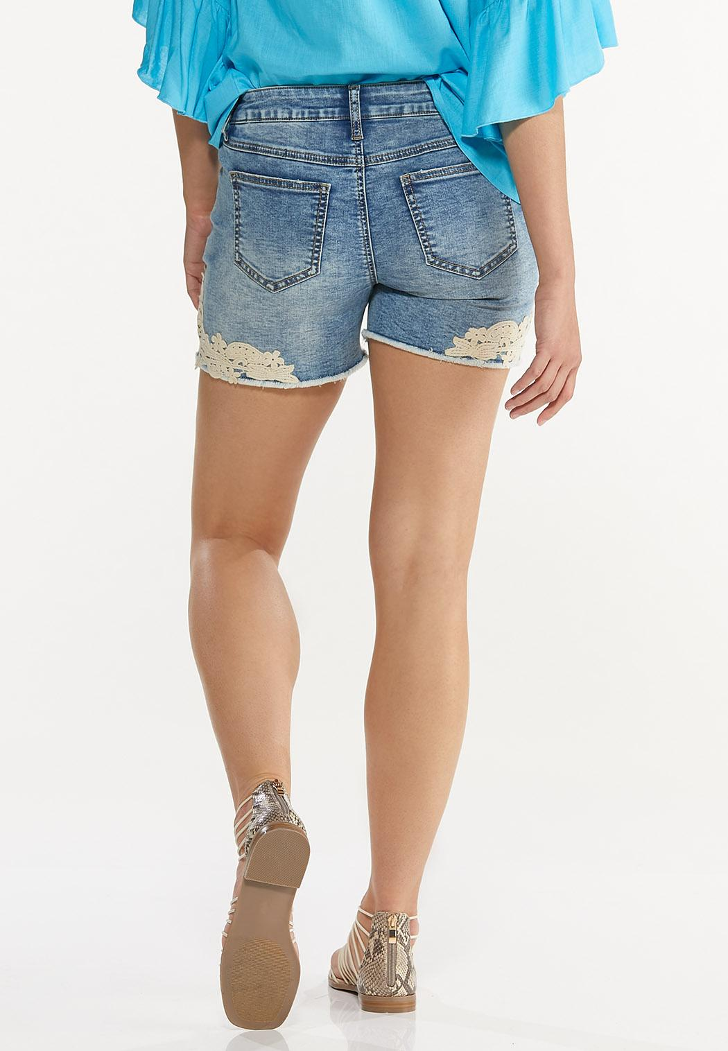 Crochet Denim Shorts (Item #44643174)