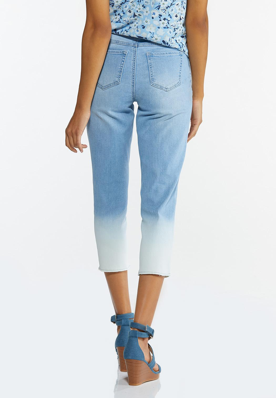 Cropped Ombre Jeans (Item #44643219)