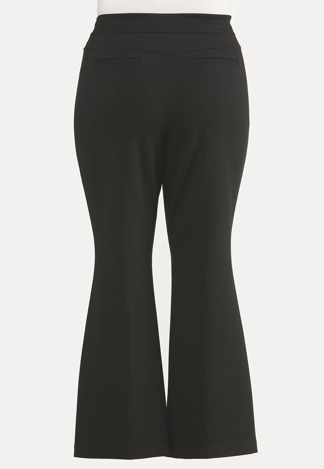 Plus Size Pintucked Ponte Pants (Item #44643405)