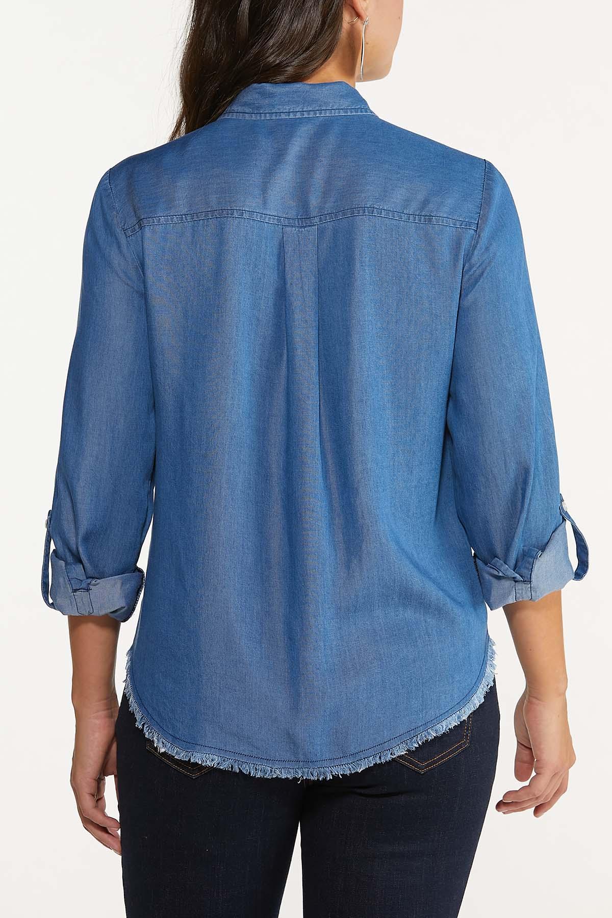 Frayed Chambray Shirt (Item #44643750)