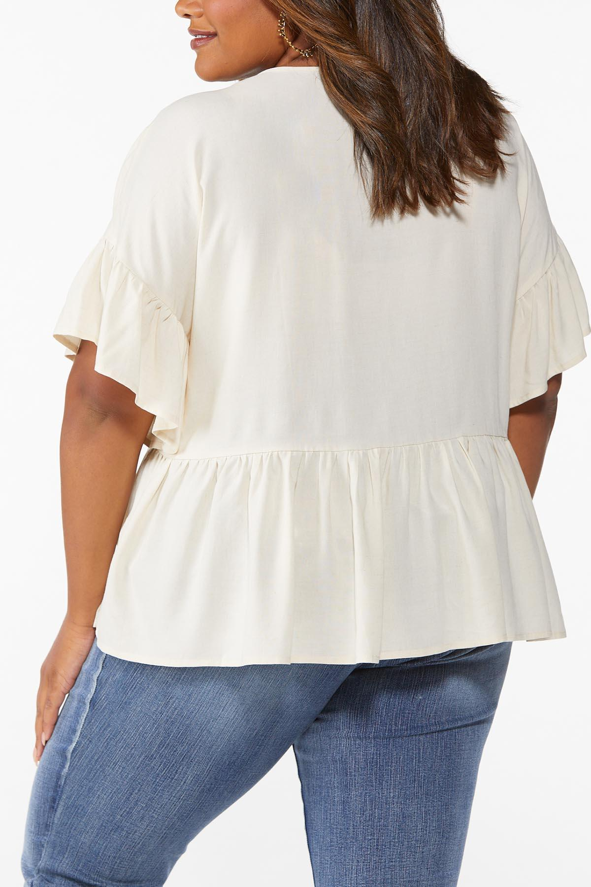 Plus Size Embroidered Poet Top (Item #44643830)