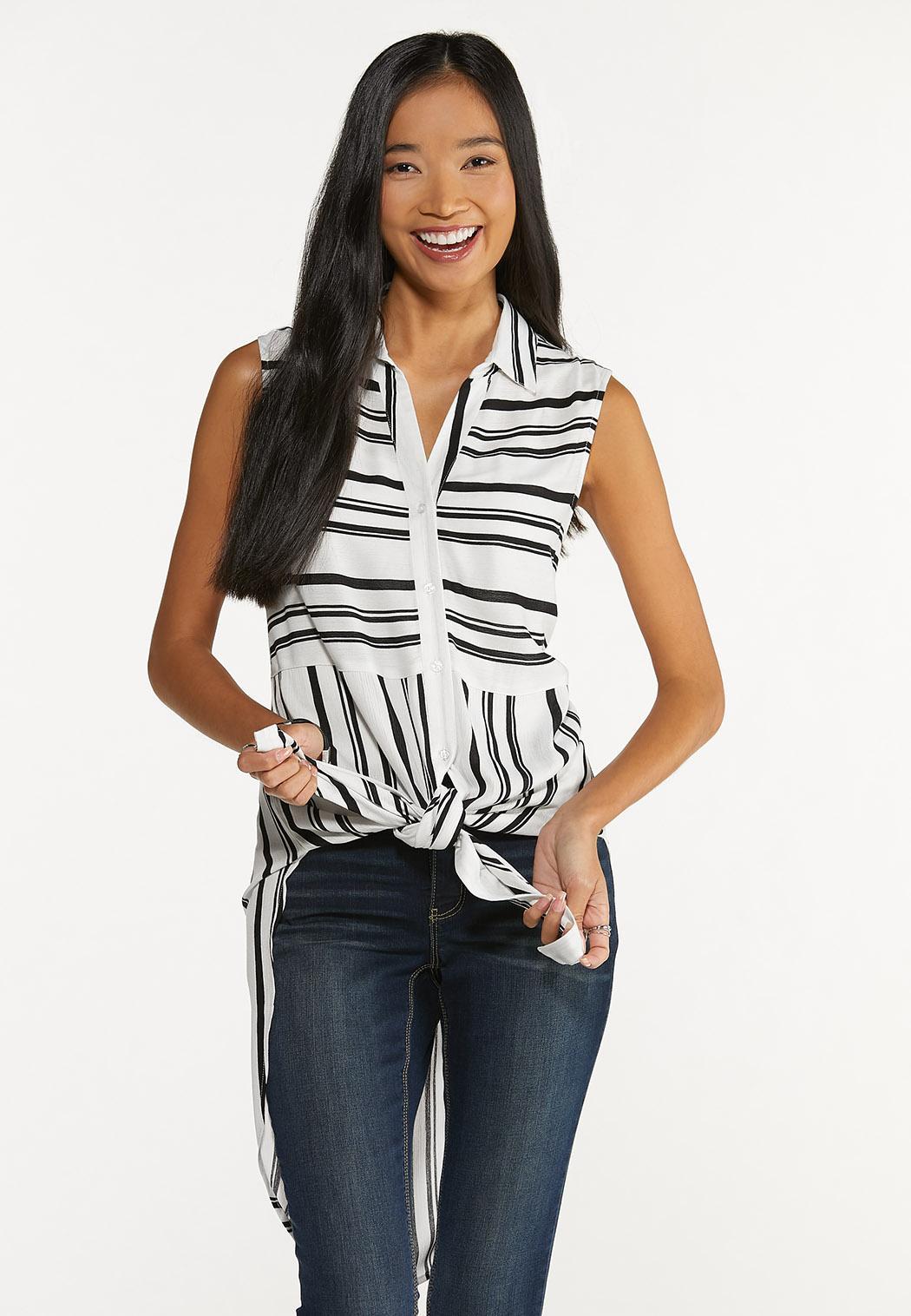 Contrast Stripe Tunic (Item #44643992)