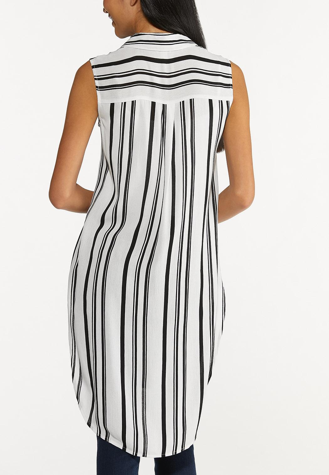 Plus Size Contrast Stripe Tunic (Item #44644003)