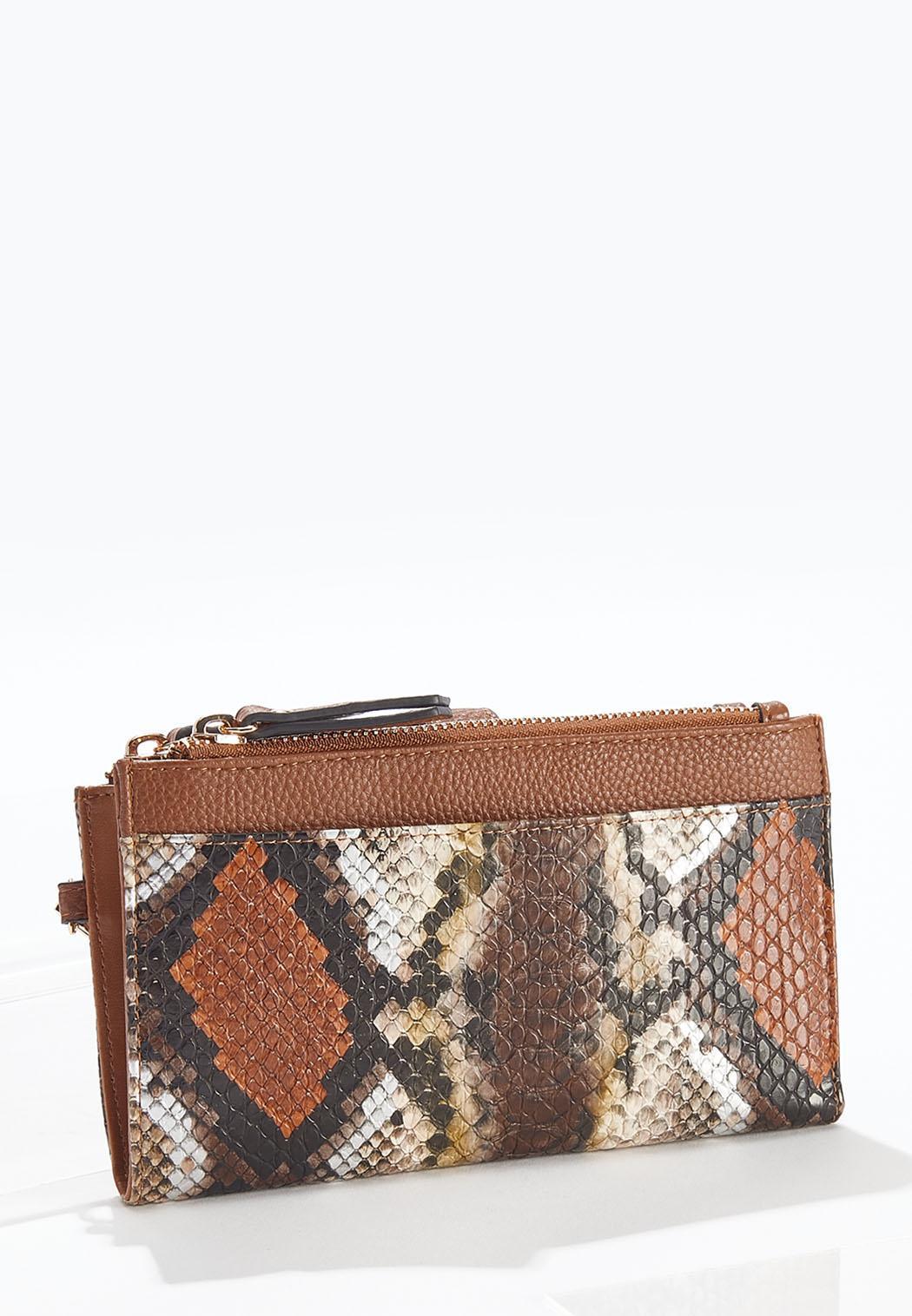 Multi Snakeskin Wristlet Wallet (Item #44644373)