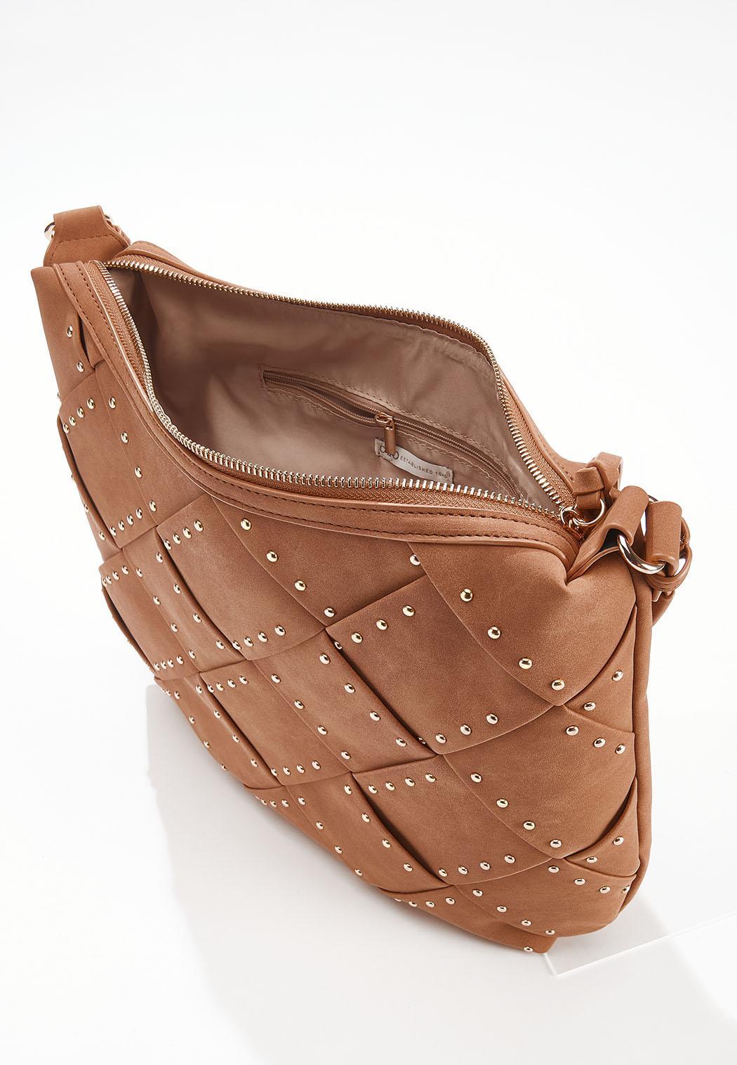 Woven Studded Handbag (Item #44644423)
