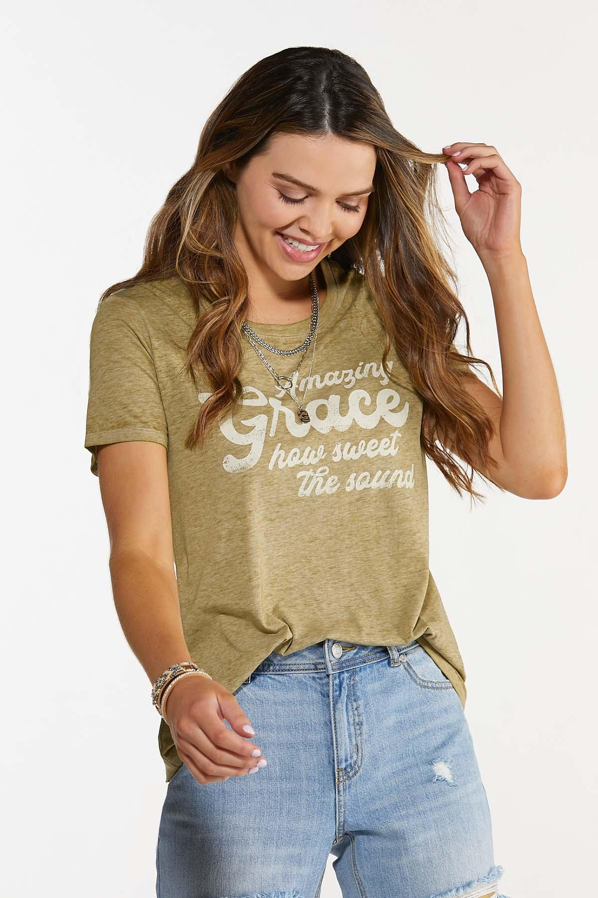 Plus Size Amazing Grace Tee (Item #44644601)