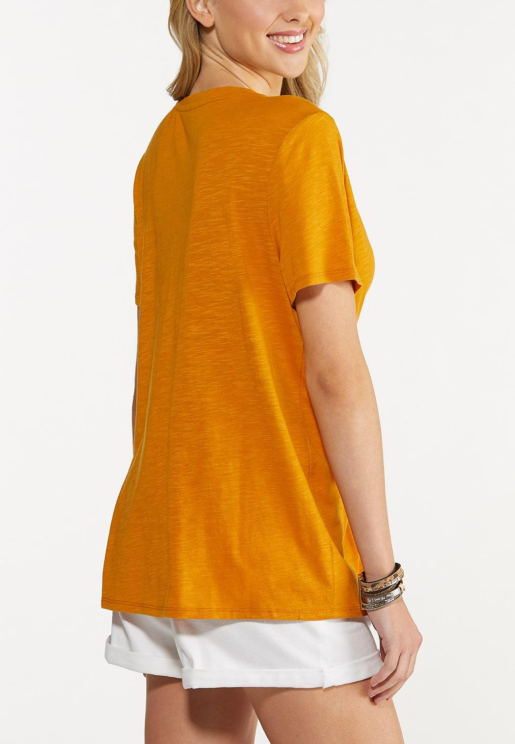 Plus Size Solid Blessed Tee (Item #44644644)
