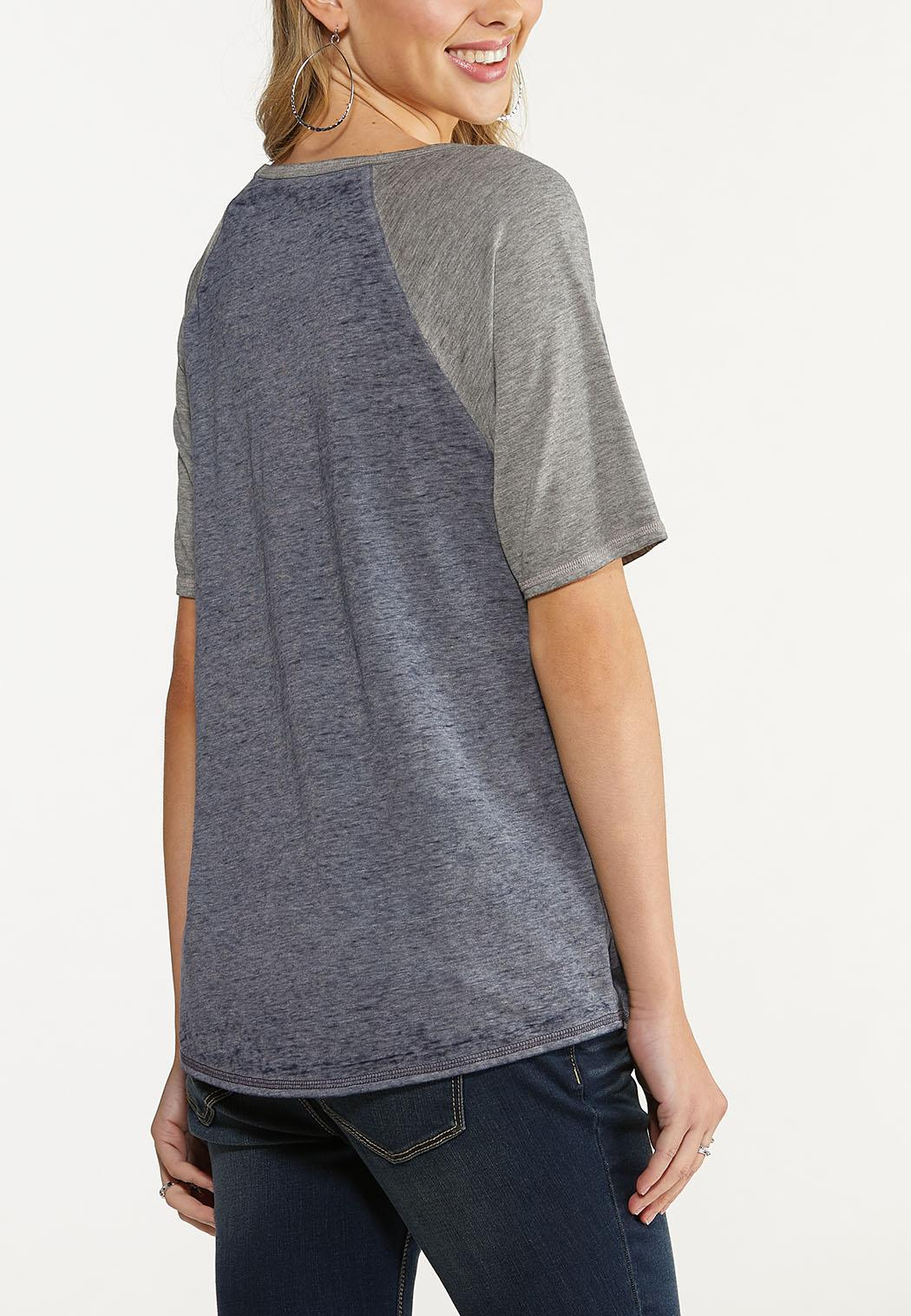 Plus Size Slouched Love Football Tee (Item #44644772)