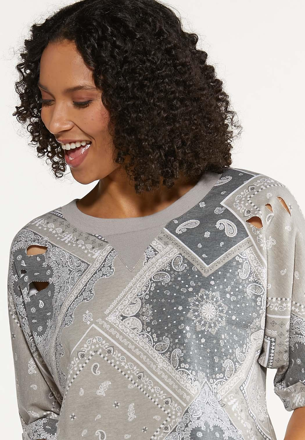 Distressed Bandana Sweatshirt (Item #44645343)
