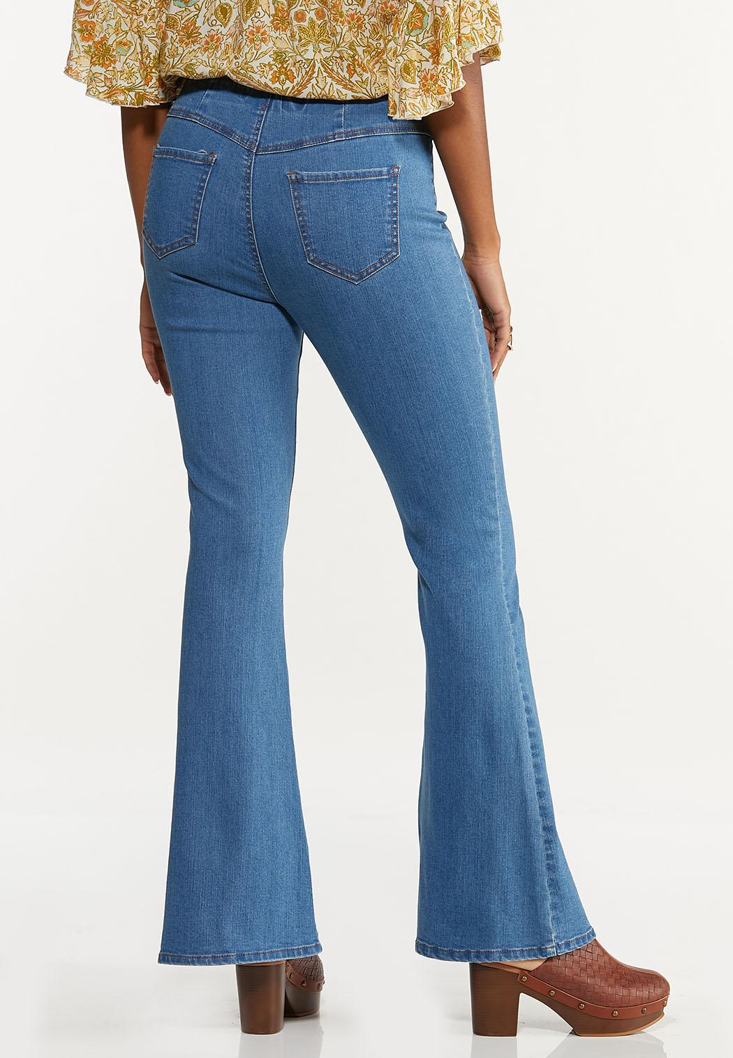Petite Pull-On Flare Jeans (Item #44645559)