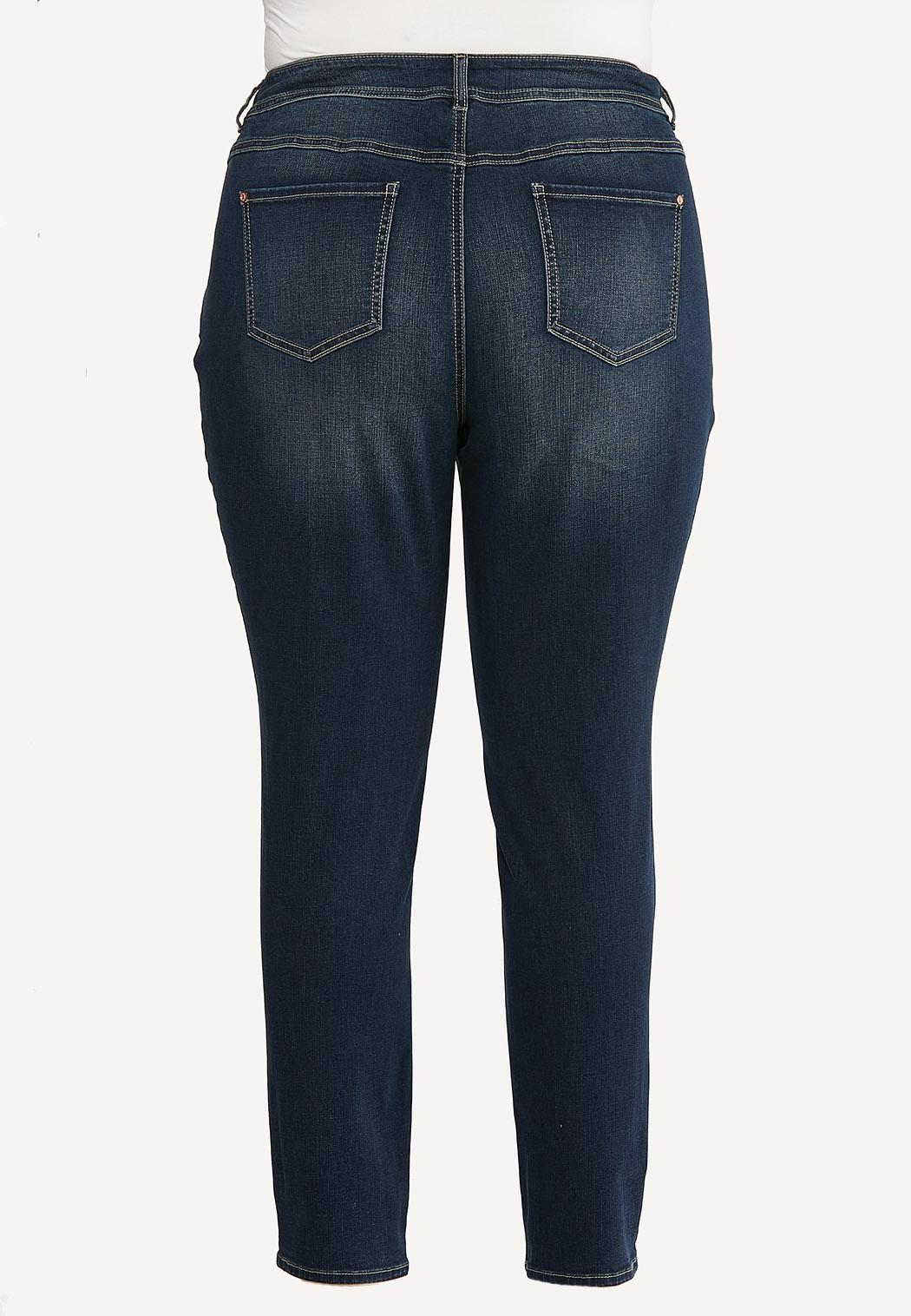 Plus Size Shape Enhancing Skinny Jeans (Item #44645763)
